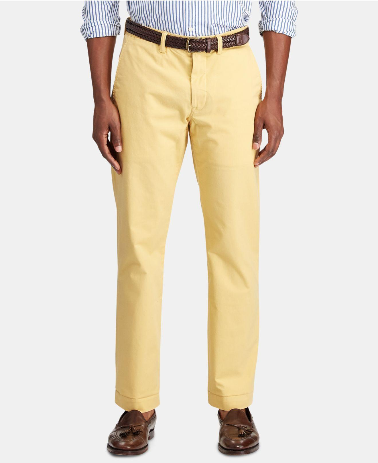 f29570ac Polo Ralph Lauren - Yellow Big & Tall Classic Fit Chino Pants for Men -  Lyst. View fullscreen