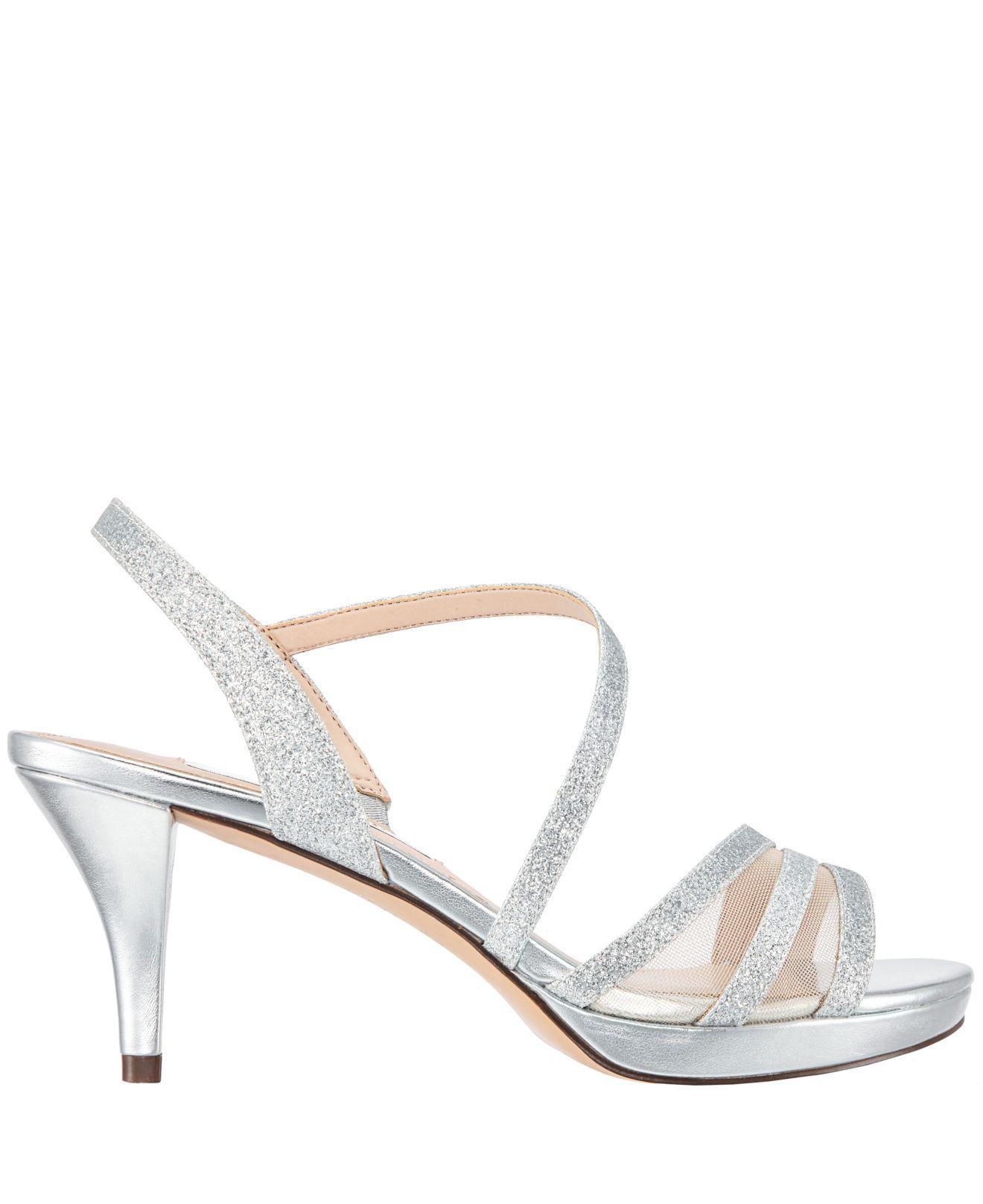 5208bd18d4a Lyst - Nina Nazima Platform Dress Sandals in Metallic