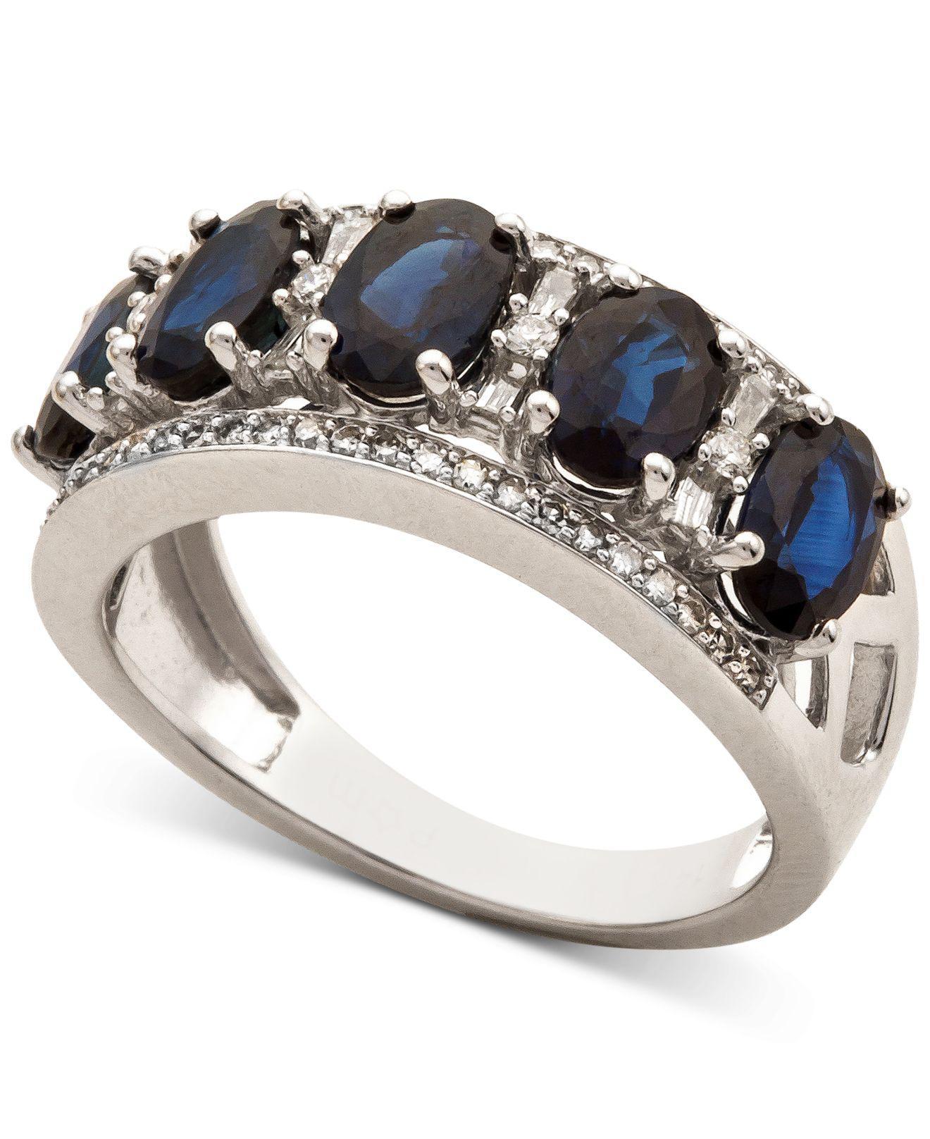 2346d9b8c Lyst - Macy's Sapphire (2-7/8 Ct. T.w.) & Diamond (1/3 Ct. T.w. ...