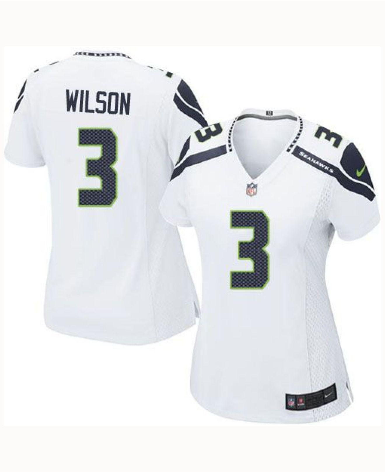 super popular 06957 874af Lyst - Nike Women's Russell Wilson Seattle Seahawks Game ...