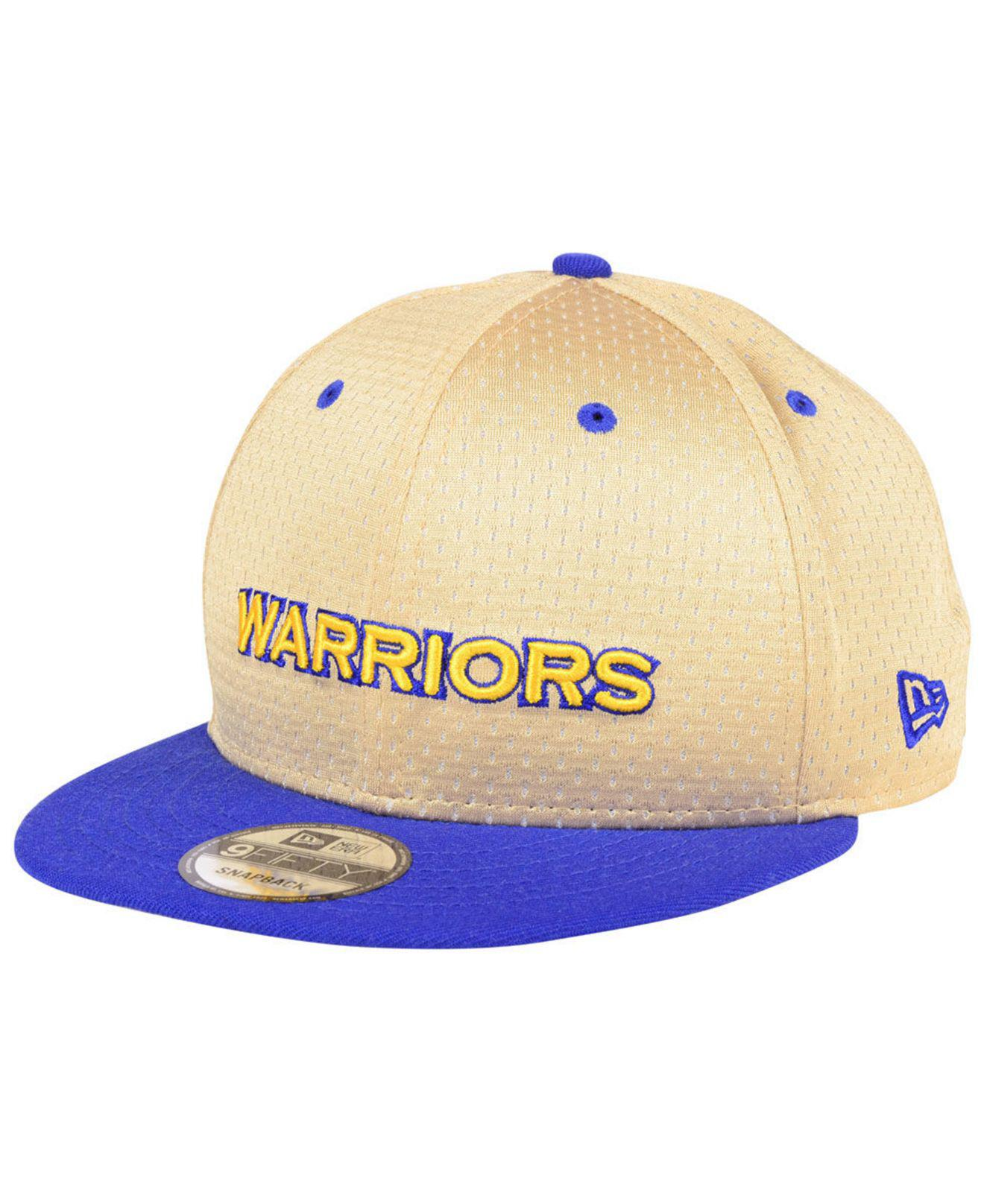promo code f580c b1dca ... norway golden state warriors champagne 9fifty snapback cap for men lyst.  view fullscreen db9c6 89557