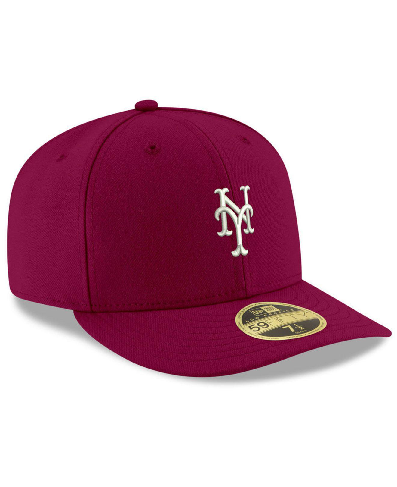Lyst - KTZ New York Mets Low Profile C-dub 59fifty Fitted Cap in Red ... 329e4d726b94