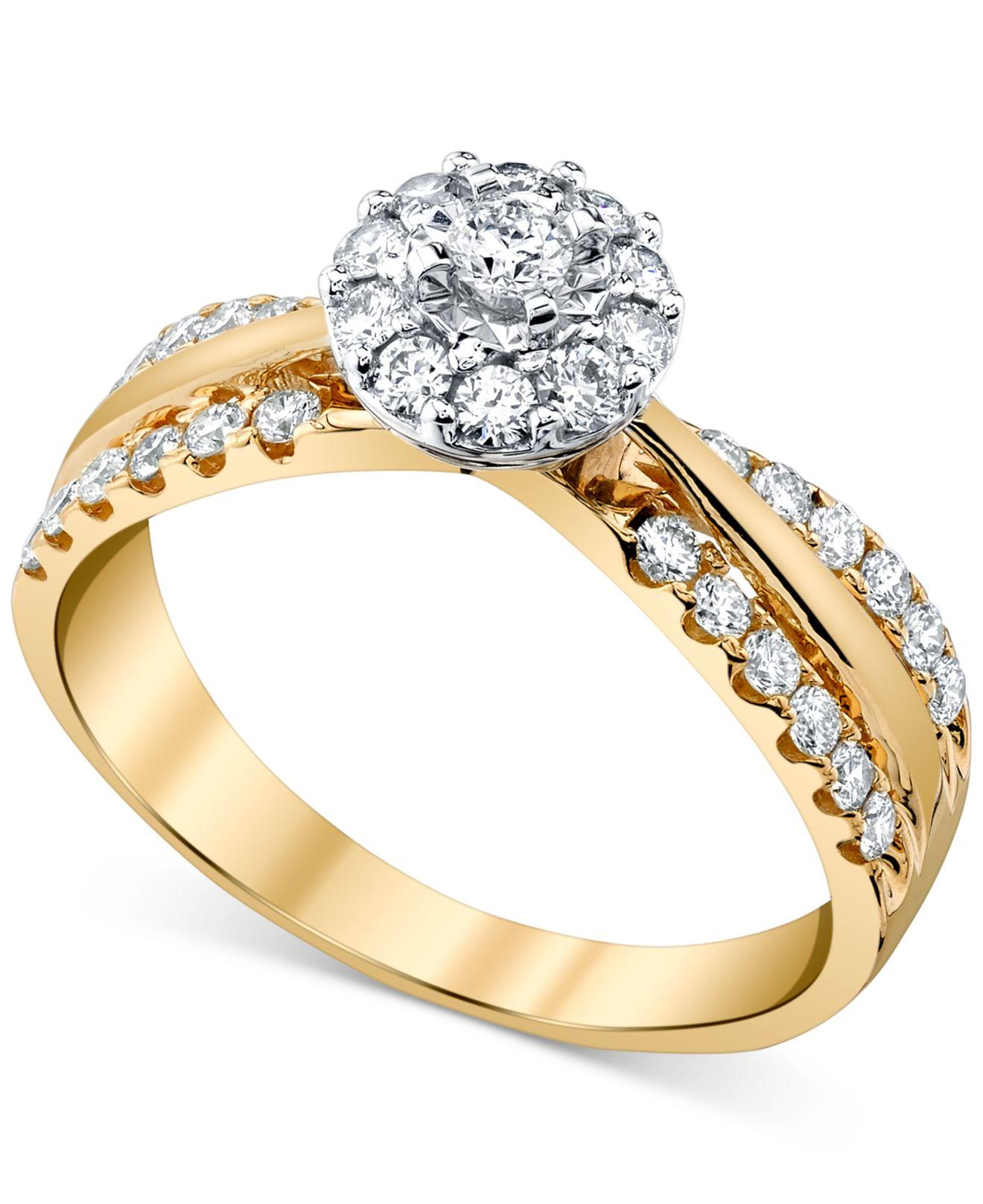 Macy's Diamond (1/2 Ct. T.w.) Engagement Ring In