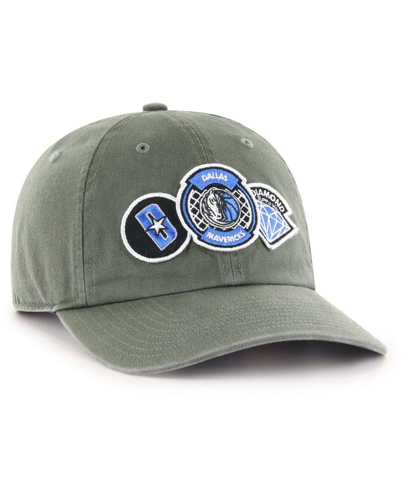 Lyst - 47 Brand Dallas Mavericks Diamond Patch Clean Up Mf Cap for Men c14cd916a98