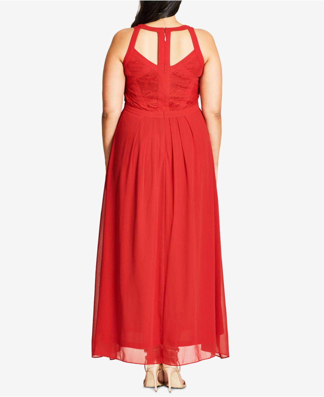 a6d666fda1d Lyst - City Chic Plus Size Sleeveless Maxi Dress in Black