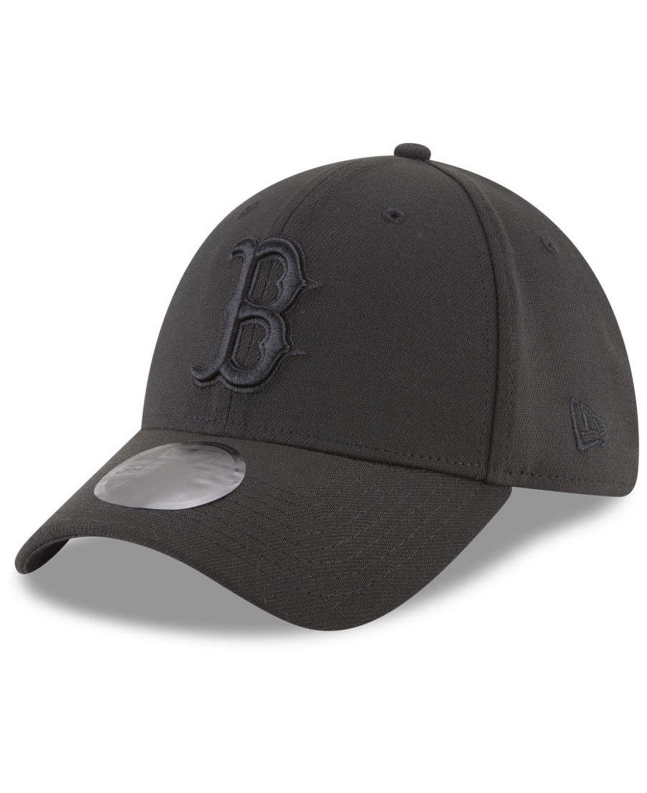 Lyst - KTZ Boston Red Sox Blackout 39thirty Cap in Black for Men 31cea070096d