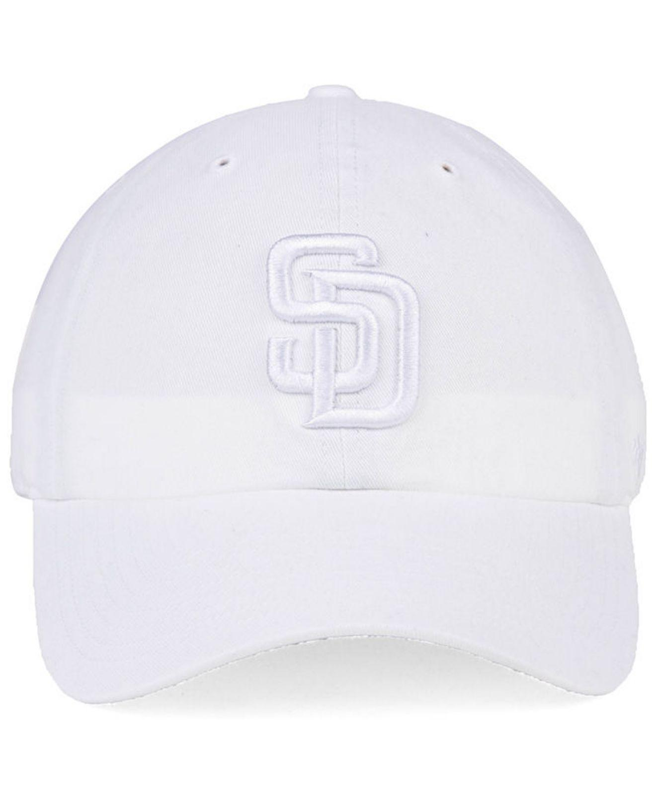 06936559c0a25 Lyst - 47 Brand San Diego Padres White white Clean Up Cap in White for Men