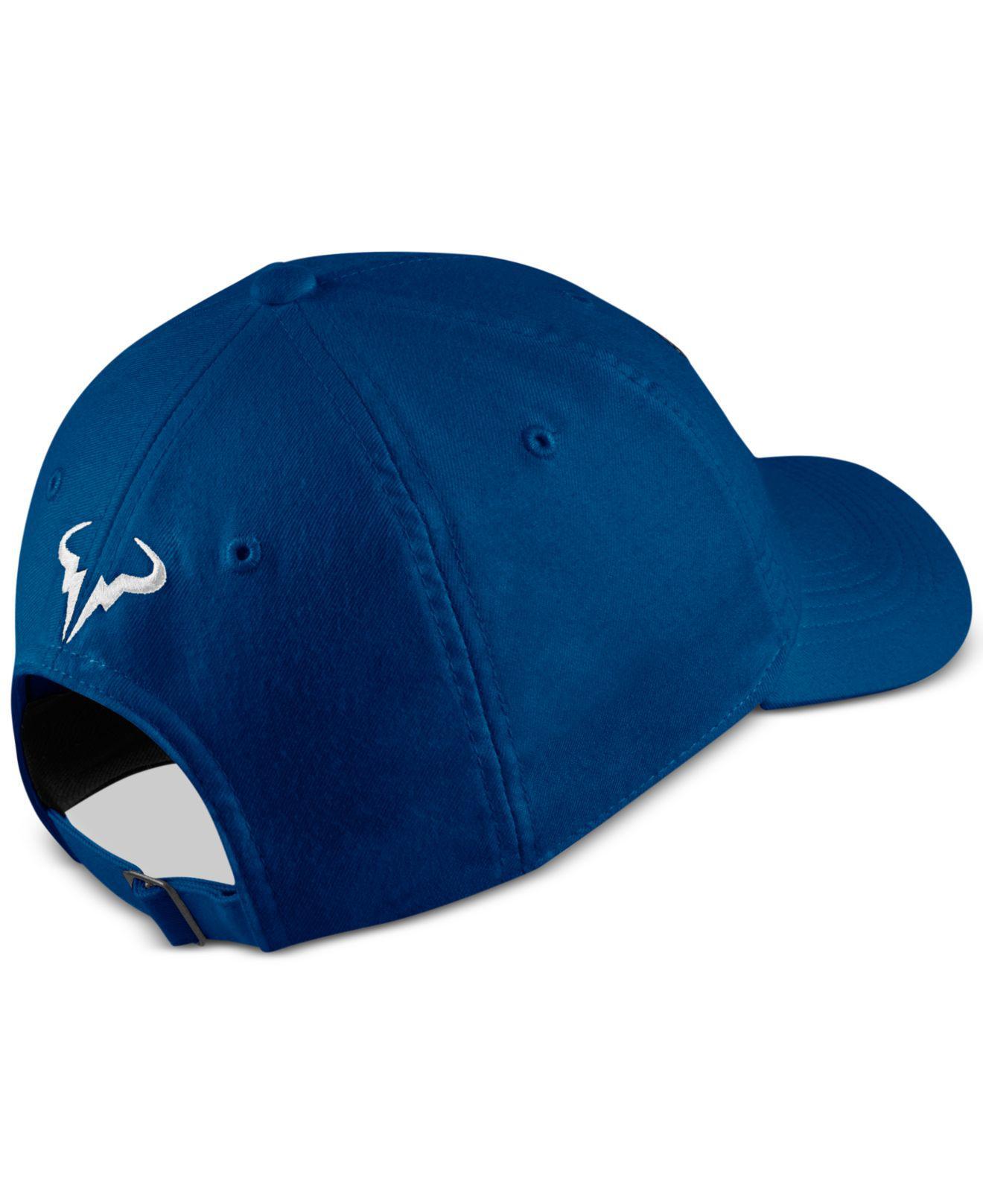 b5565c9c20f47 Lyst - Nike Court Aerobill Rafa Tennis Hat in Blue for Men