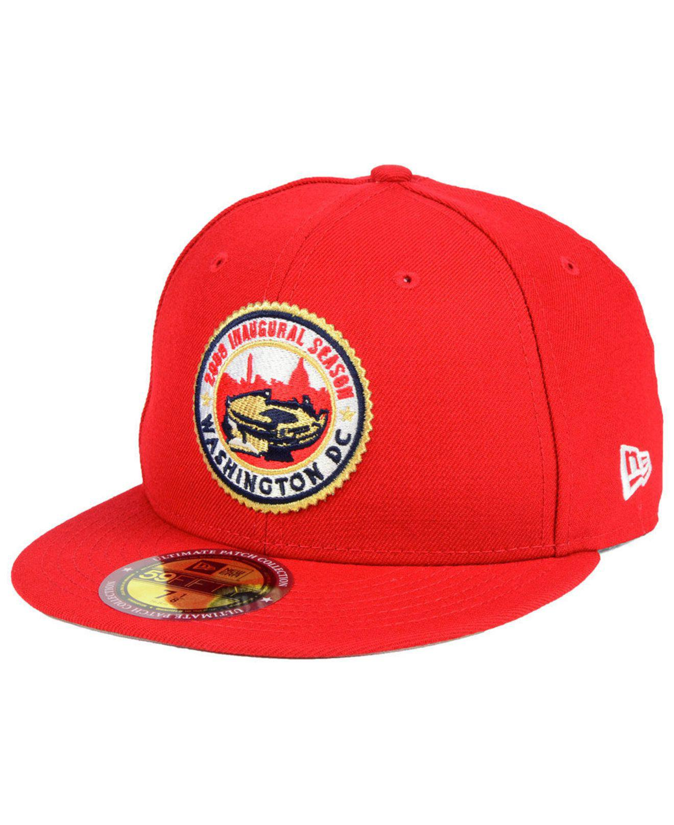 new concept 83669 b8630 KTZ - Red Washington Nationals Ultimate Patch Collection Front 59fifty  Fitted Cap for Men - Lyst. View fullscreen