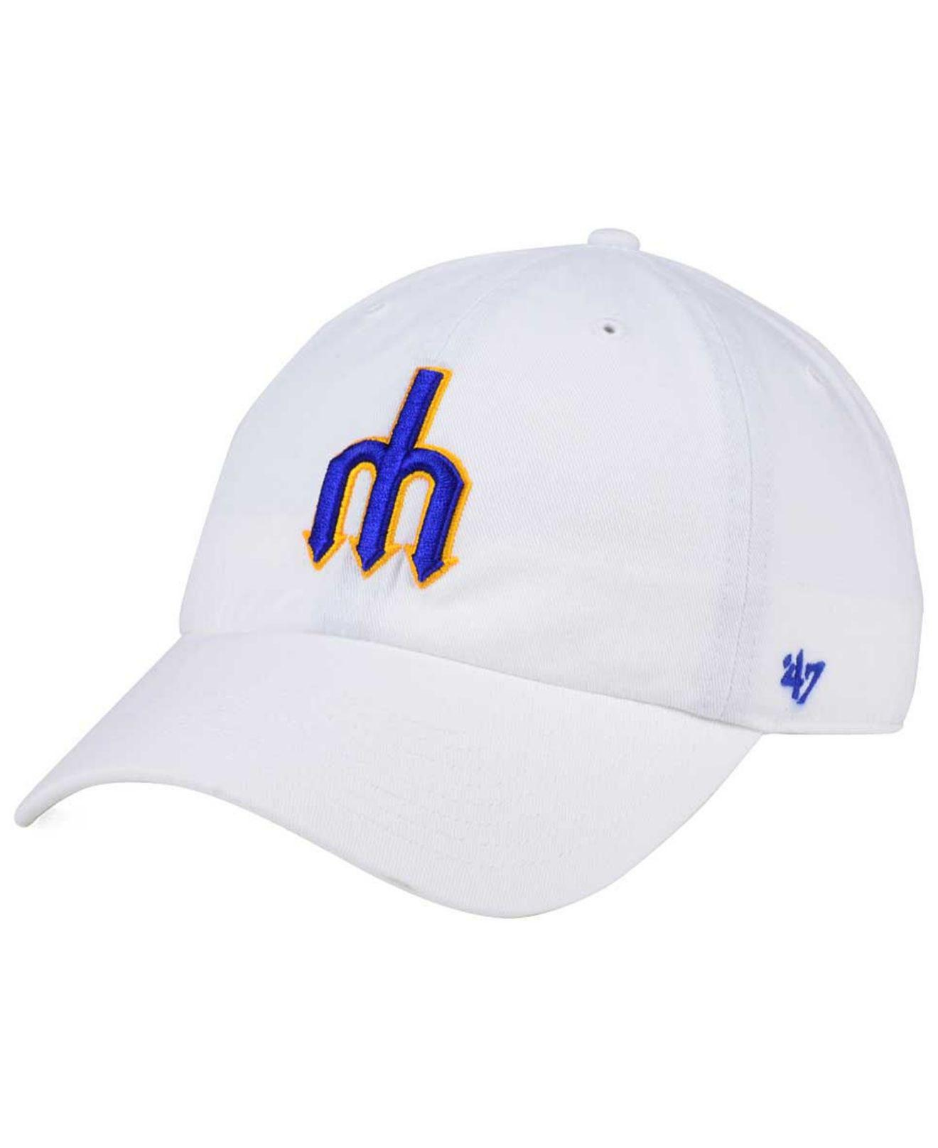 hot sale online 77684 f1058 47 Brand. Men s White Seattle Mariners Core Clean Up Strapback Cap