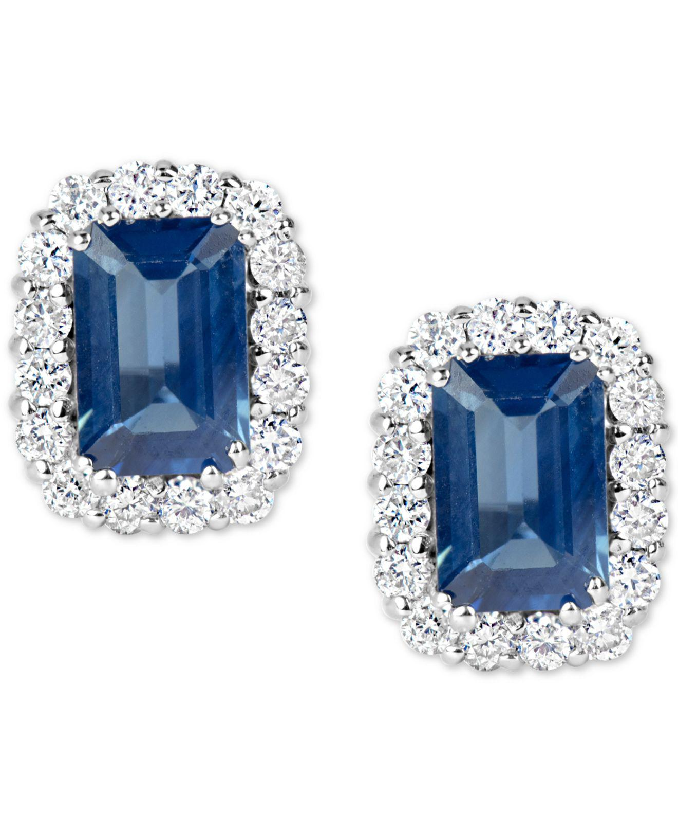 f4da871af Lyst - Macy's Sapphire (1-3/8 Ct. T.w.) And Diamond (1/3 Ct. T.w. ...
