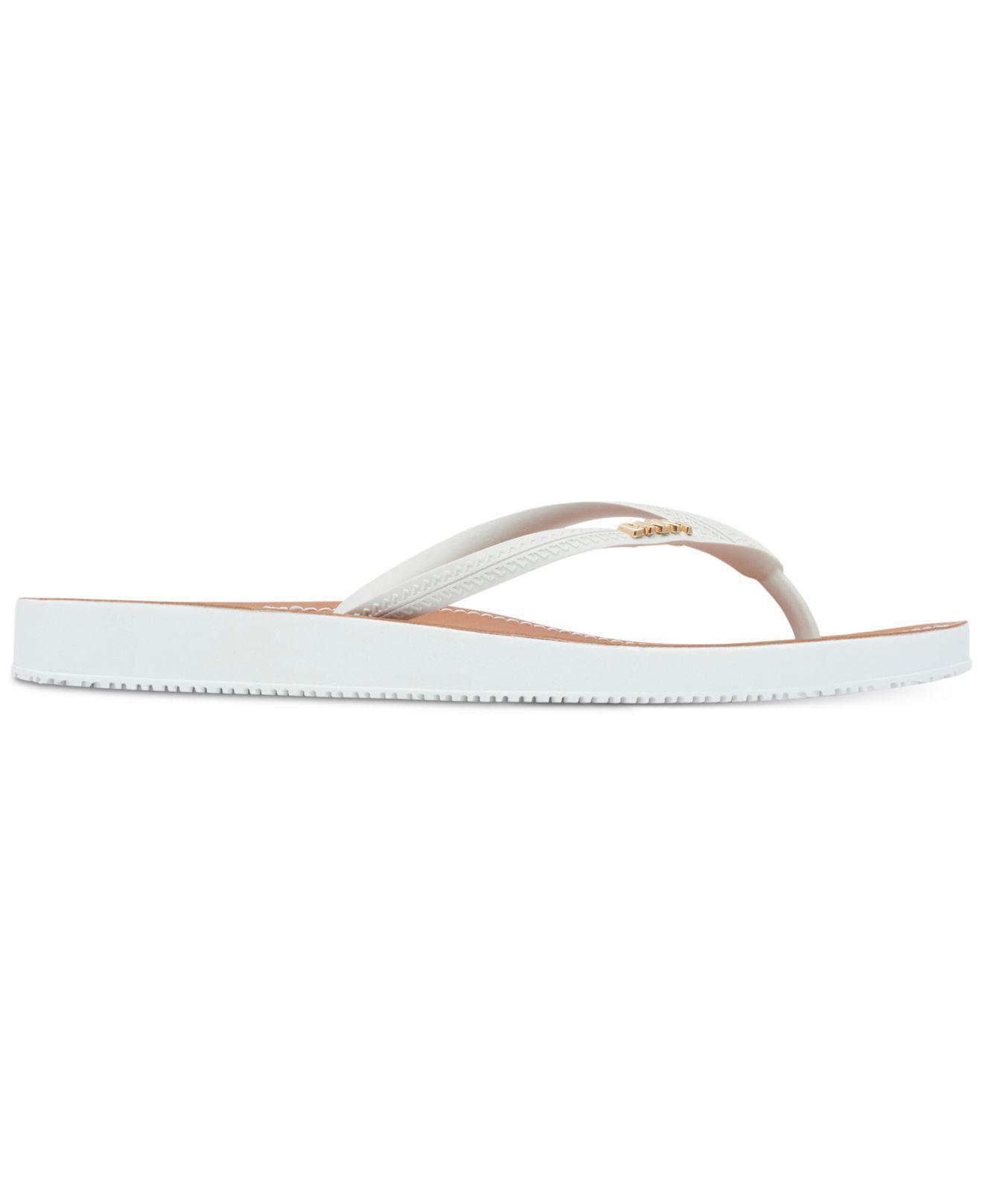 5fcbe7dc949 Lyst - DKNY Madi Flip-flops in White