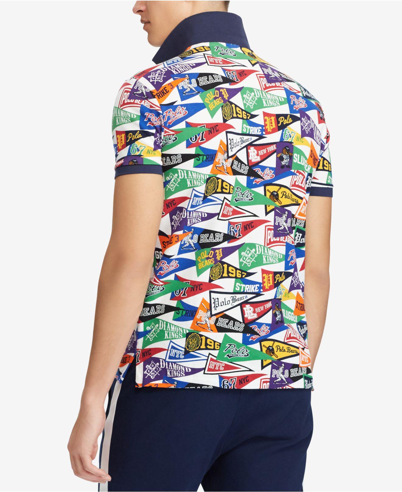 d9e39c05ab2 ... uk lyst polo ralph lauren classic fit mesh polo shirt in blue for men  5fc62 a1d7b ...