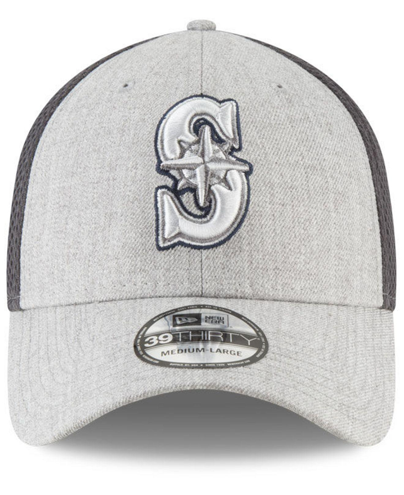 new style b2679 5a127 ... promo code for lyst ktz seattle mariners heather pop neo 39thirty cap  in gray for men