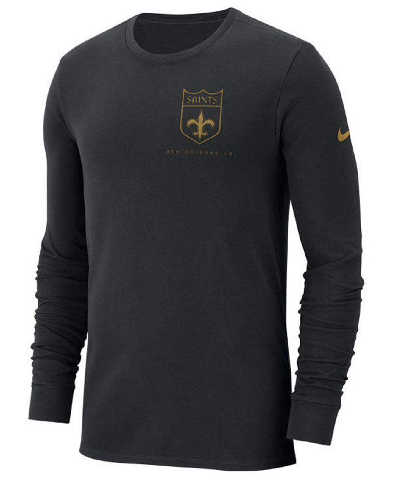 9424a504def Lyst - Nike New Orleans Saints Heavyweight Seal Long Sleeve T-shirt ...