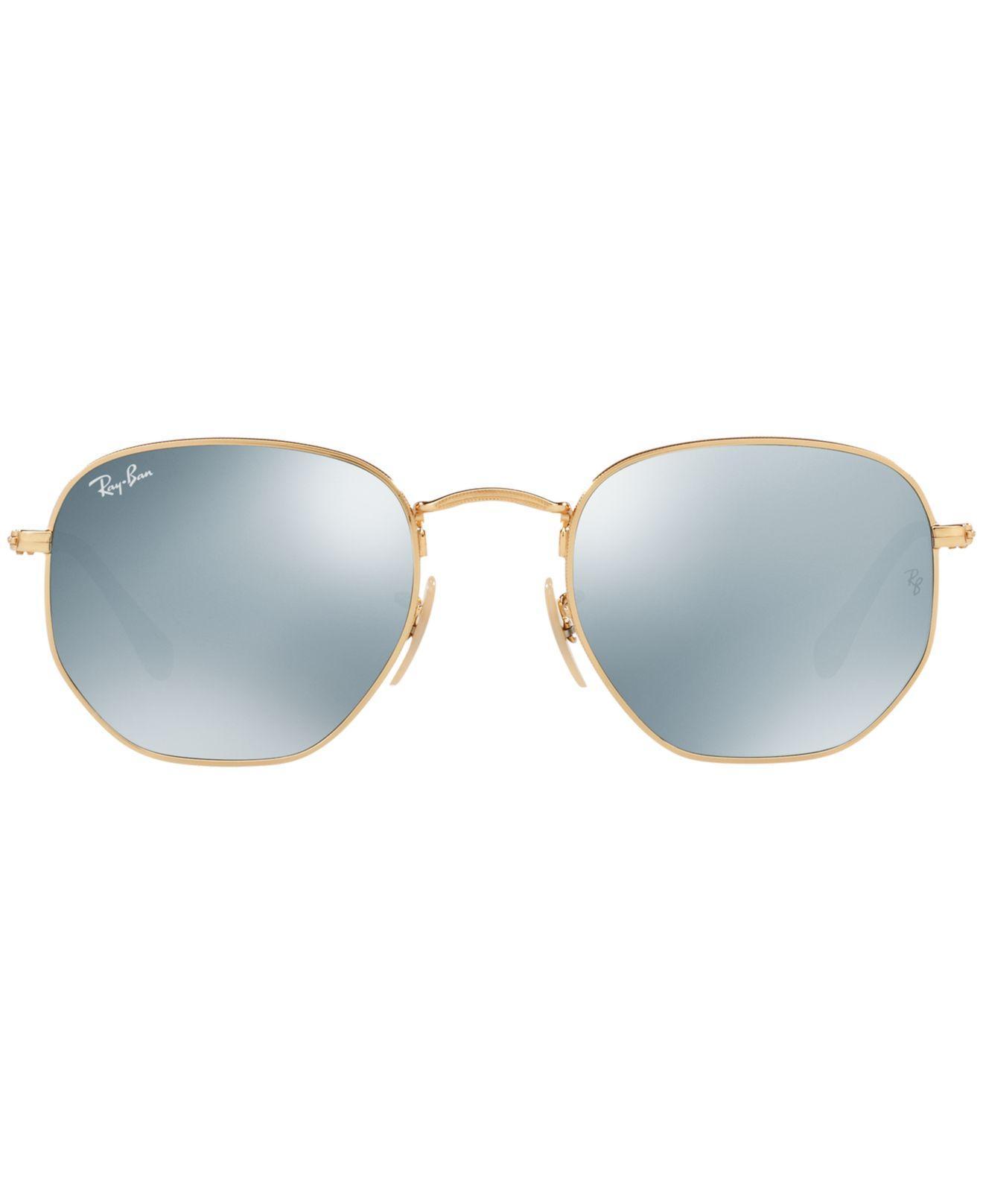9346ba125ceb Lyst - Ray-Ban Hexagonal Flat Lenses in Metallic for Men - Save 2%