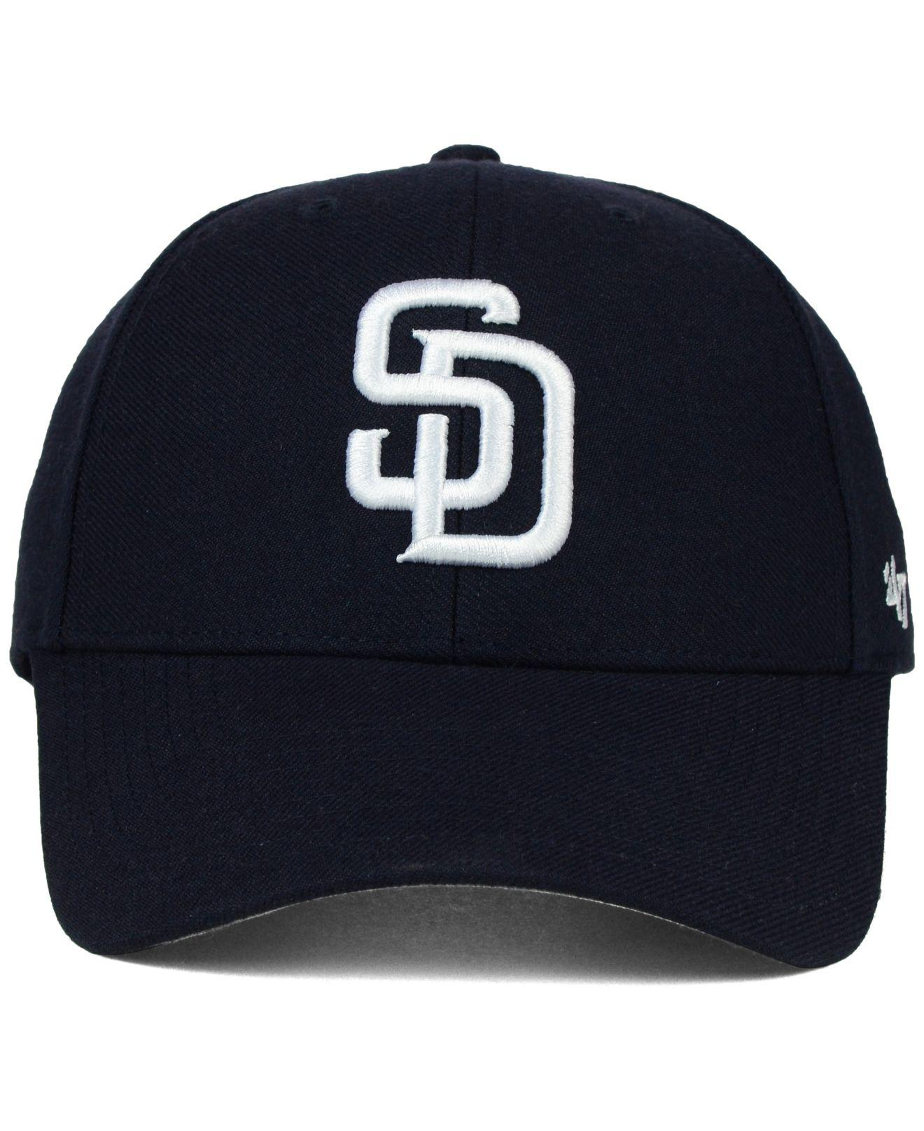 huge discount 63b75 c8977 ... top quality lyst 47 brand san diego padres mlb on field replica mvp cap  in blue