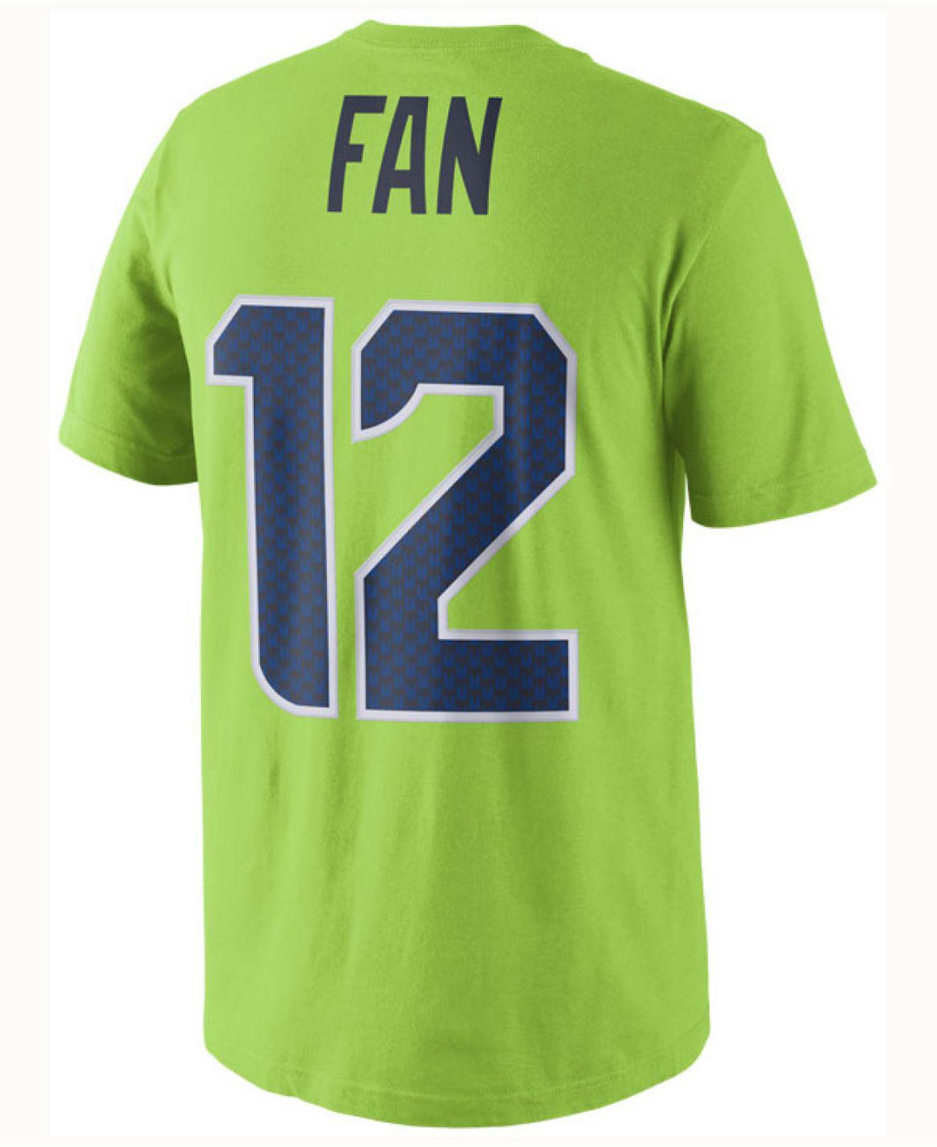 8175a3ea8 Nike. Green Men s Fan  12 Seattle Seahawks Color Rush Name   Number T-shirt