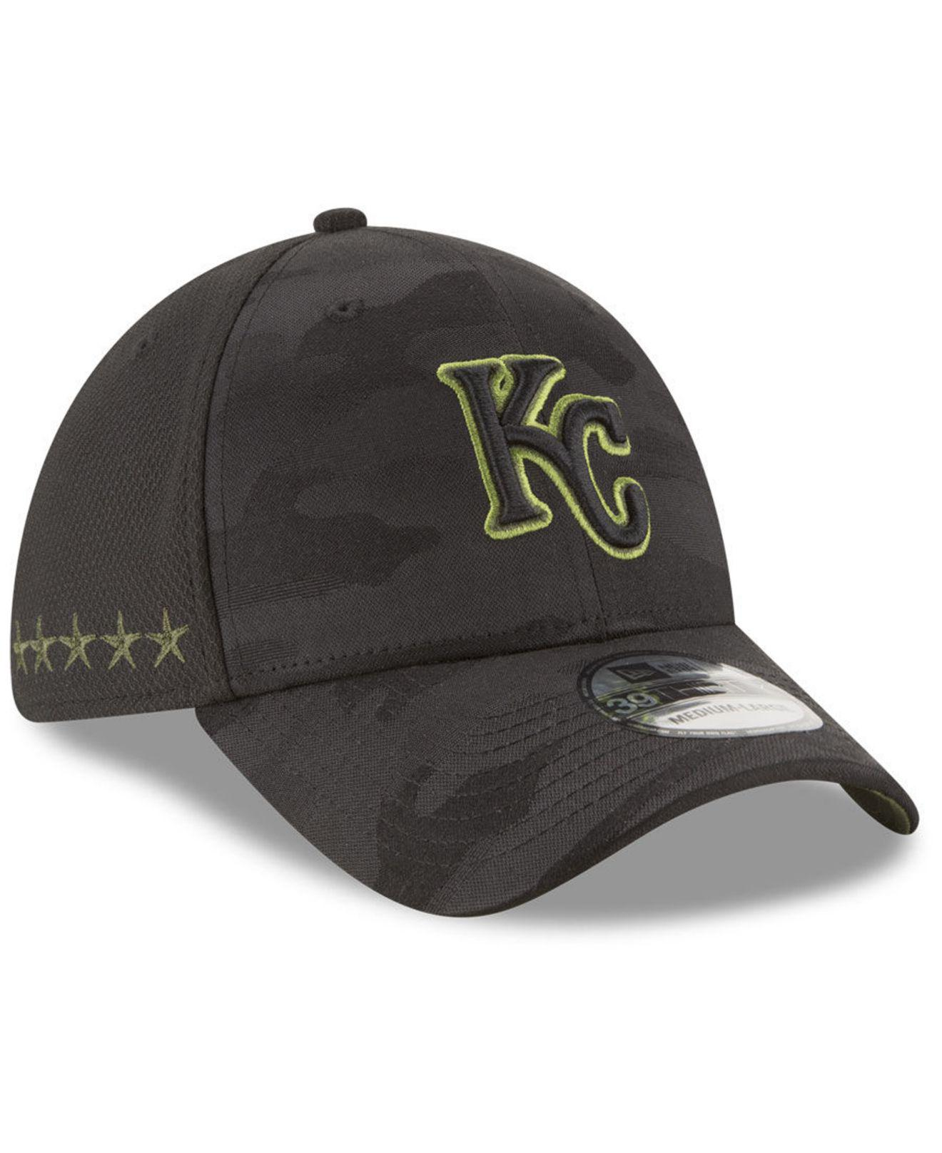 pretty nice 5ea54 546f0 ... norway ktz. mens black kansas city royals memorial day 39thirty cap  93ade a9250