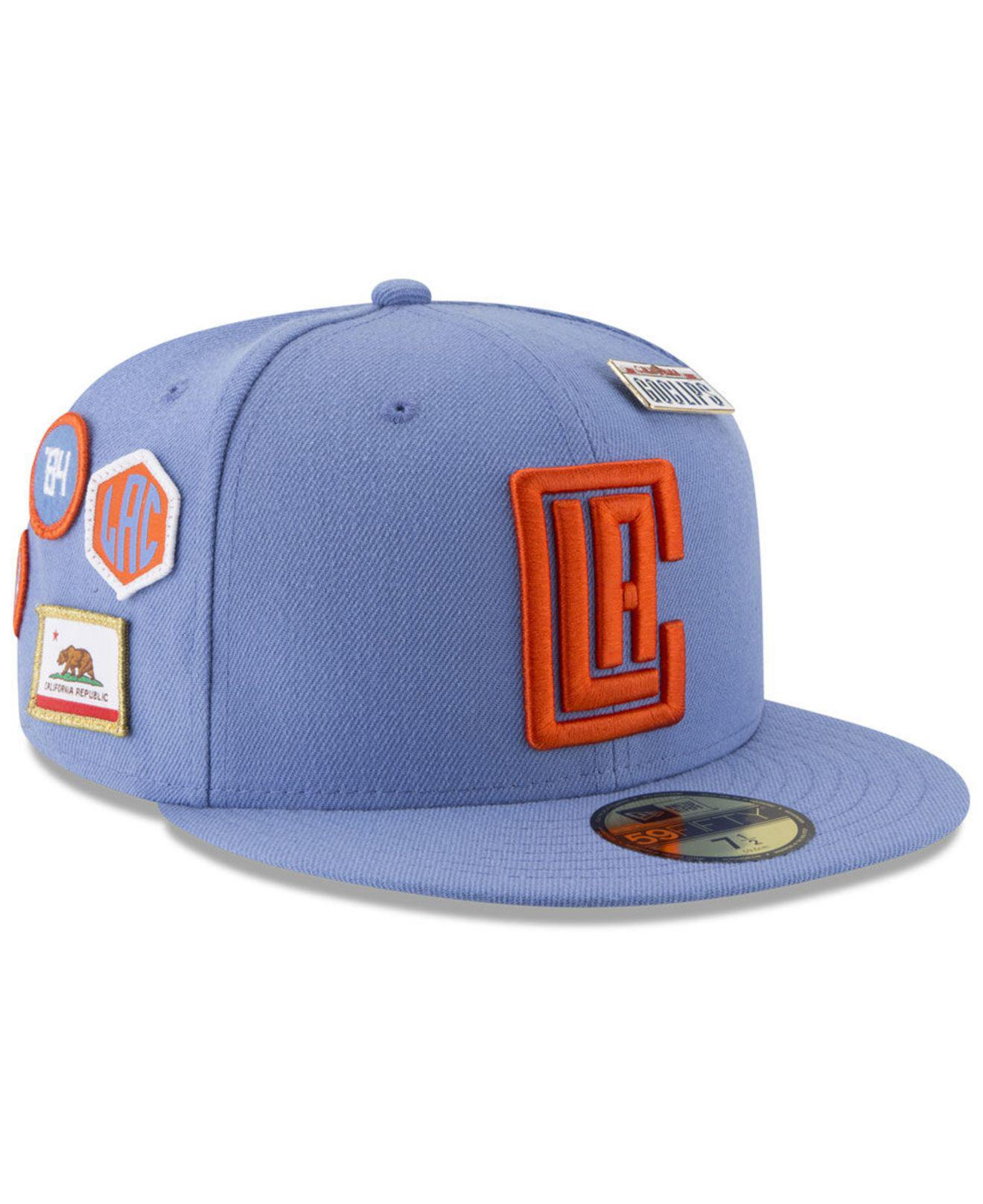 huge discount 70ddb 4f9d0 KTZ. Men s Blue Los Angeles Clippers City On-court 59fifty Fitted Cap