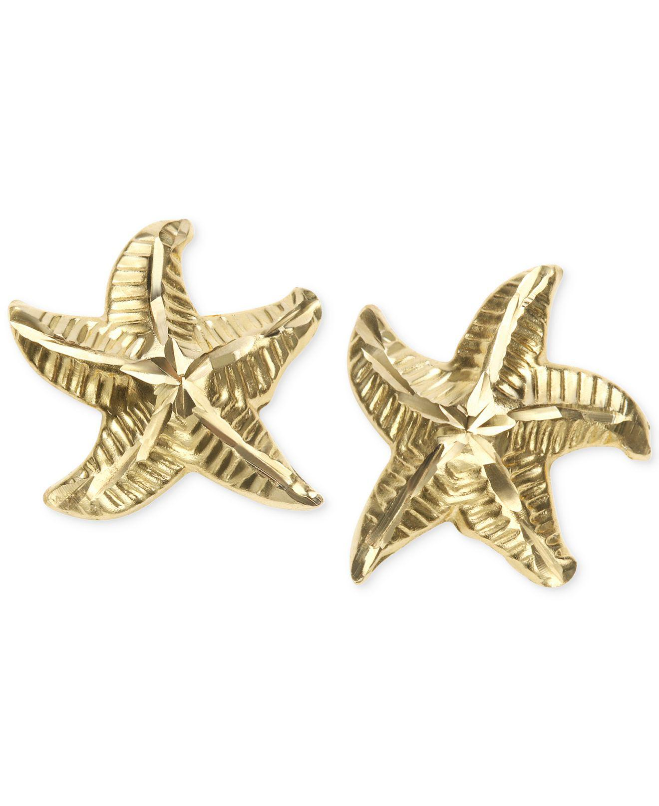 gold pin co starfish earrings mcteigue for tiffany stud