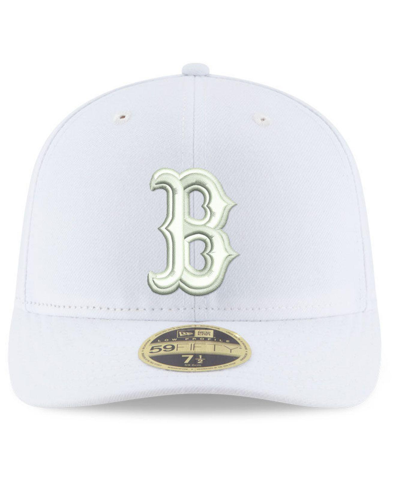 the latest 87a4b 73fd7 Lyst - KTZ Boston Red Sox Triple White Low Profile 59fifty Fitted Cap in  White for Men