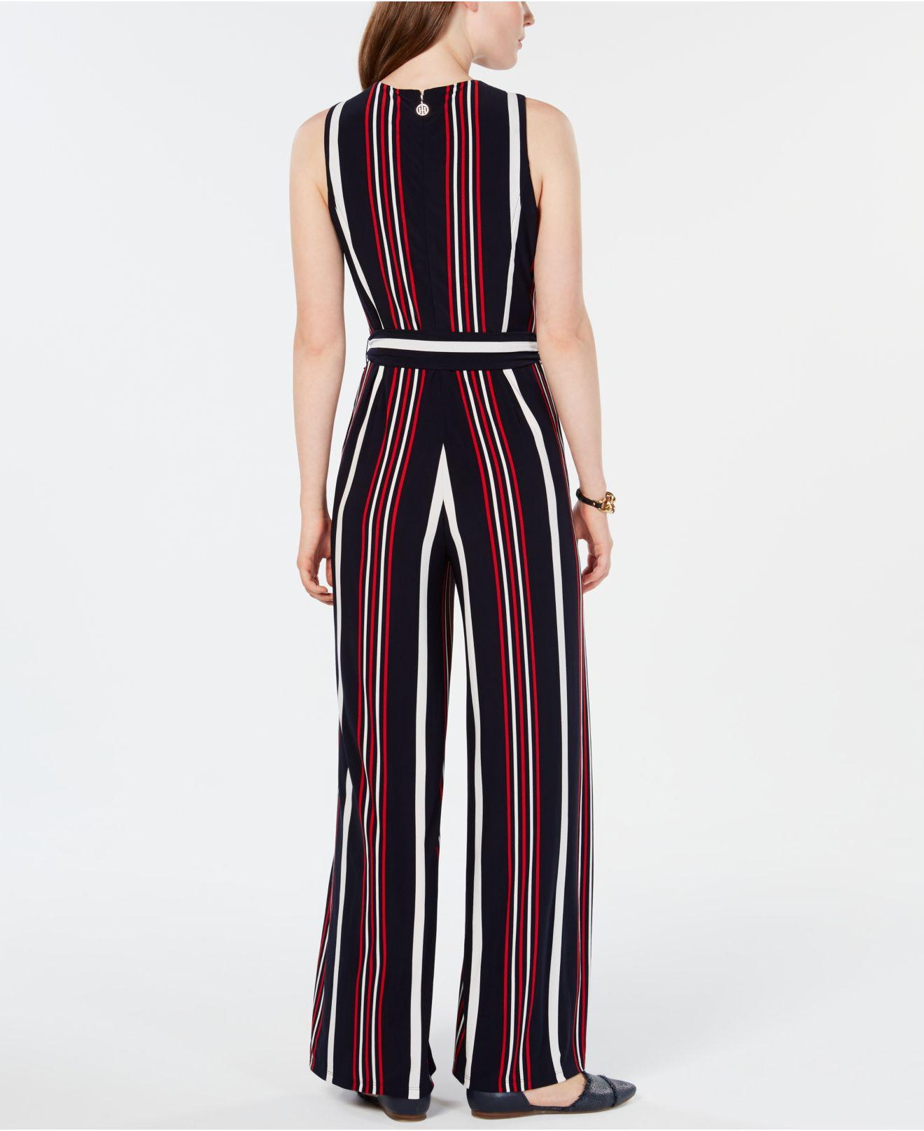 e9e3bb3c0 Tommy Hilfiger Signature-stripe Jumpsuit, Created For Macy's in Blue ...