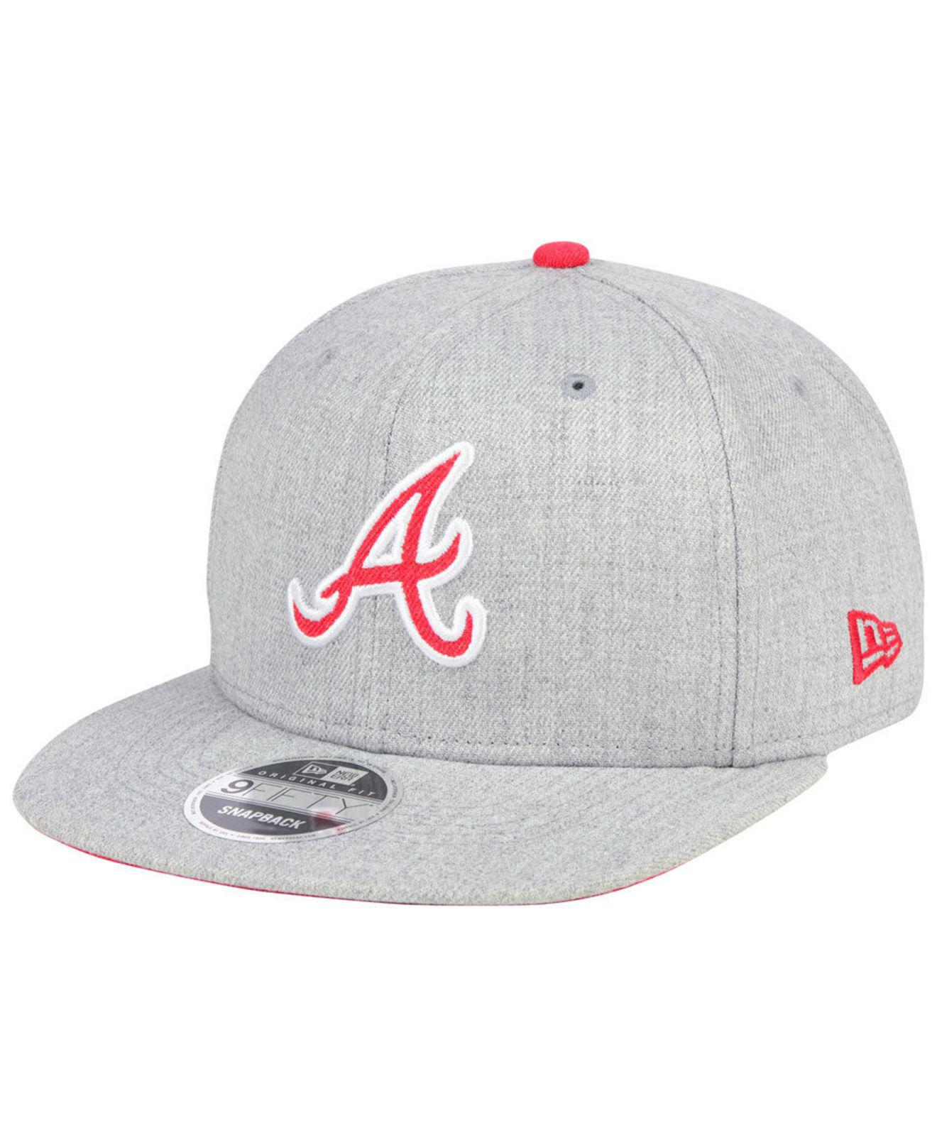 finest selection 8aa69 dd568 Lyst - KTZ Atlanta Braves Heather Hype 9fifty Snapback Cap in Gray ...