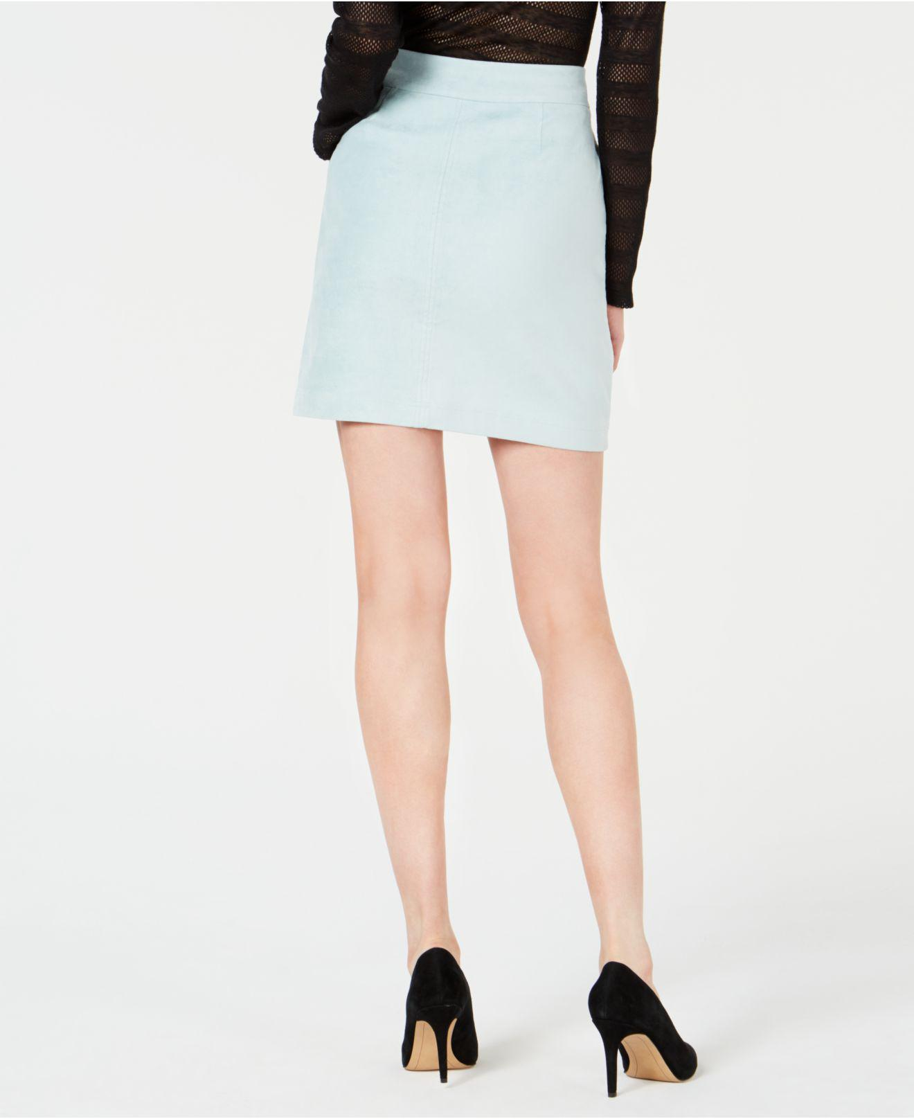 9a55df19d Lyst - INC International Concepts I.n.c. Faux-suede Mini Skirt, Created For  Macy's in Green