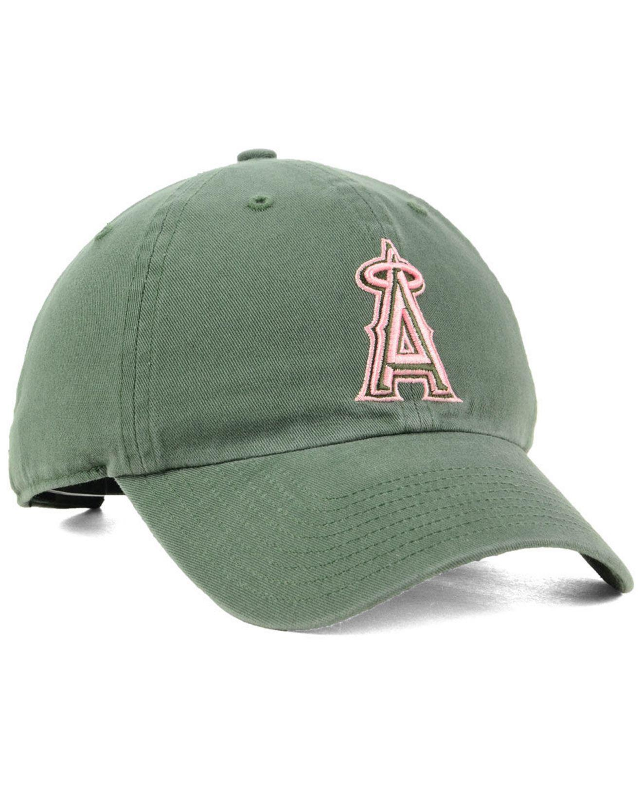 cheaper 971f5 70161 ... norway lyst 47 brand los angeles angels moss pink clean up cap in green  f3c0c 40c04