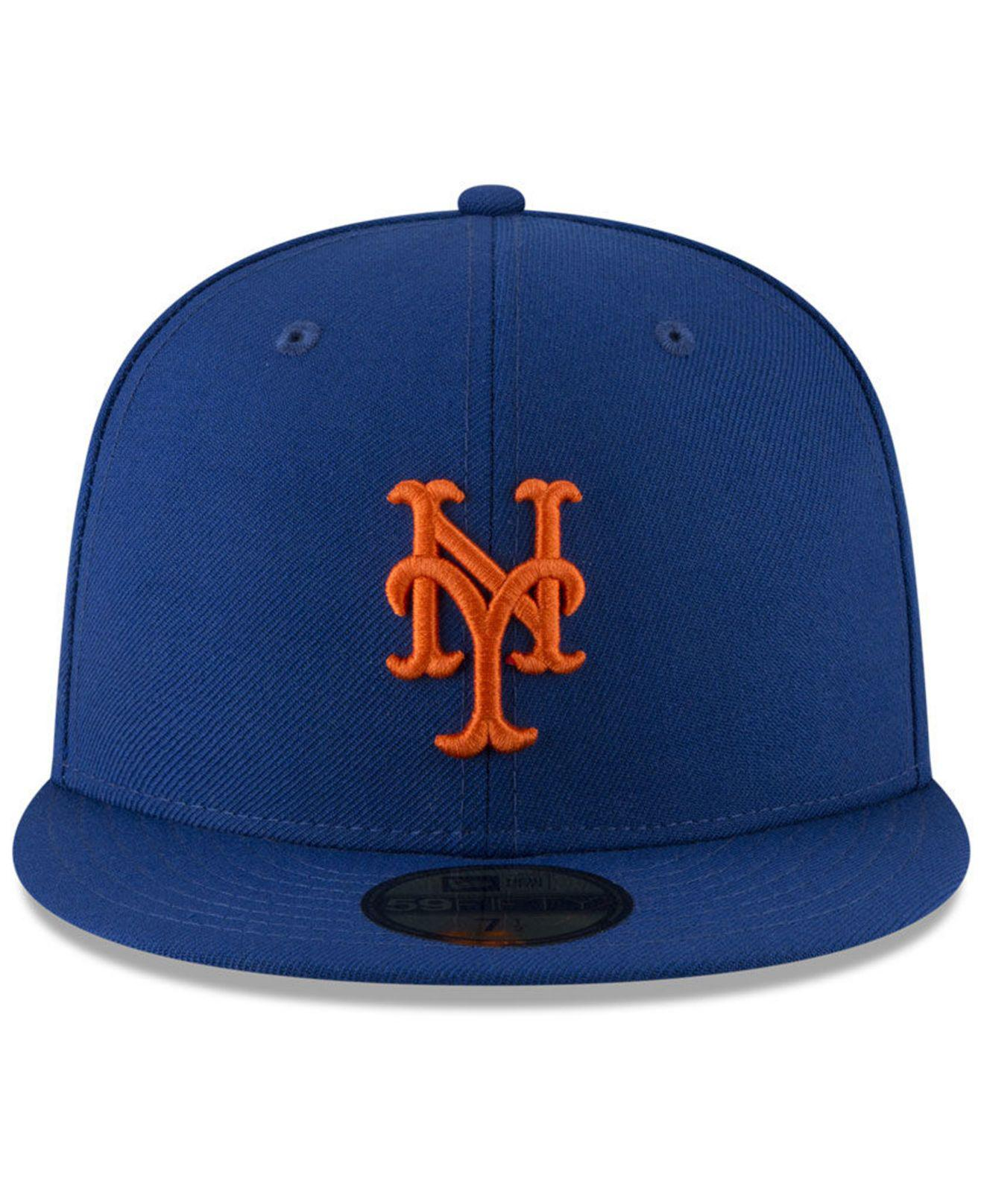 buy online fe293 b3f9d ... low cost lyst ktz new york mets jersey custom 59fifty fitted cap in  blue for men