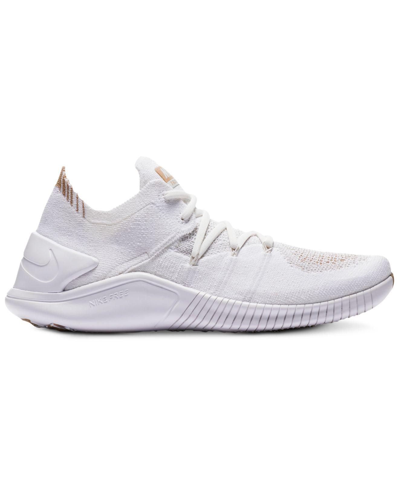 5e4038465e44 Lyst - Nike Free Tr Flyknit 3 Amp Training Sneakers From Finish Line ...