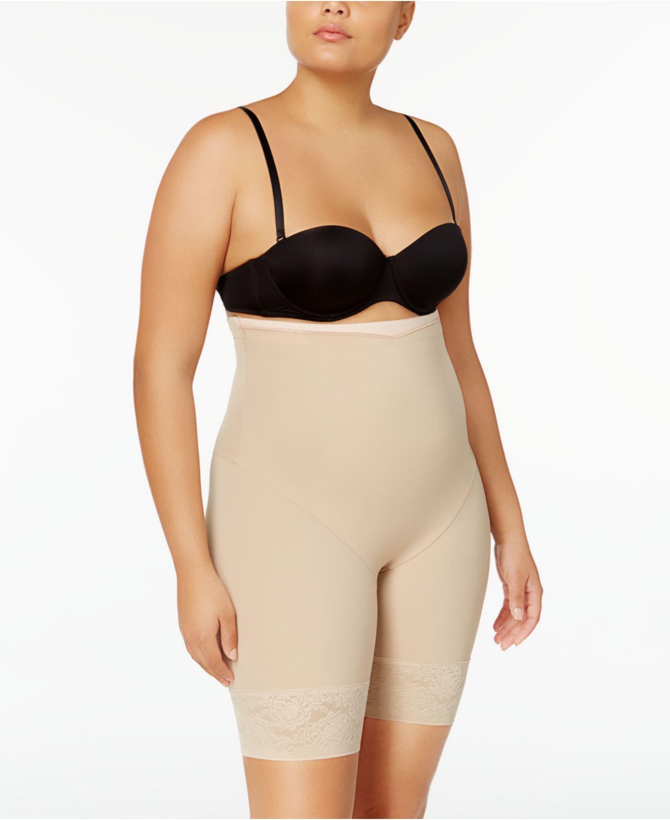 12d63246e3af6 Maidenform. Women s Natural Firm Foundations Curvy Plus Size Firm Control High  Waist Thigh Slimmer Dm1024
