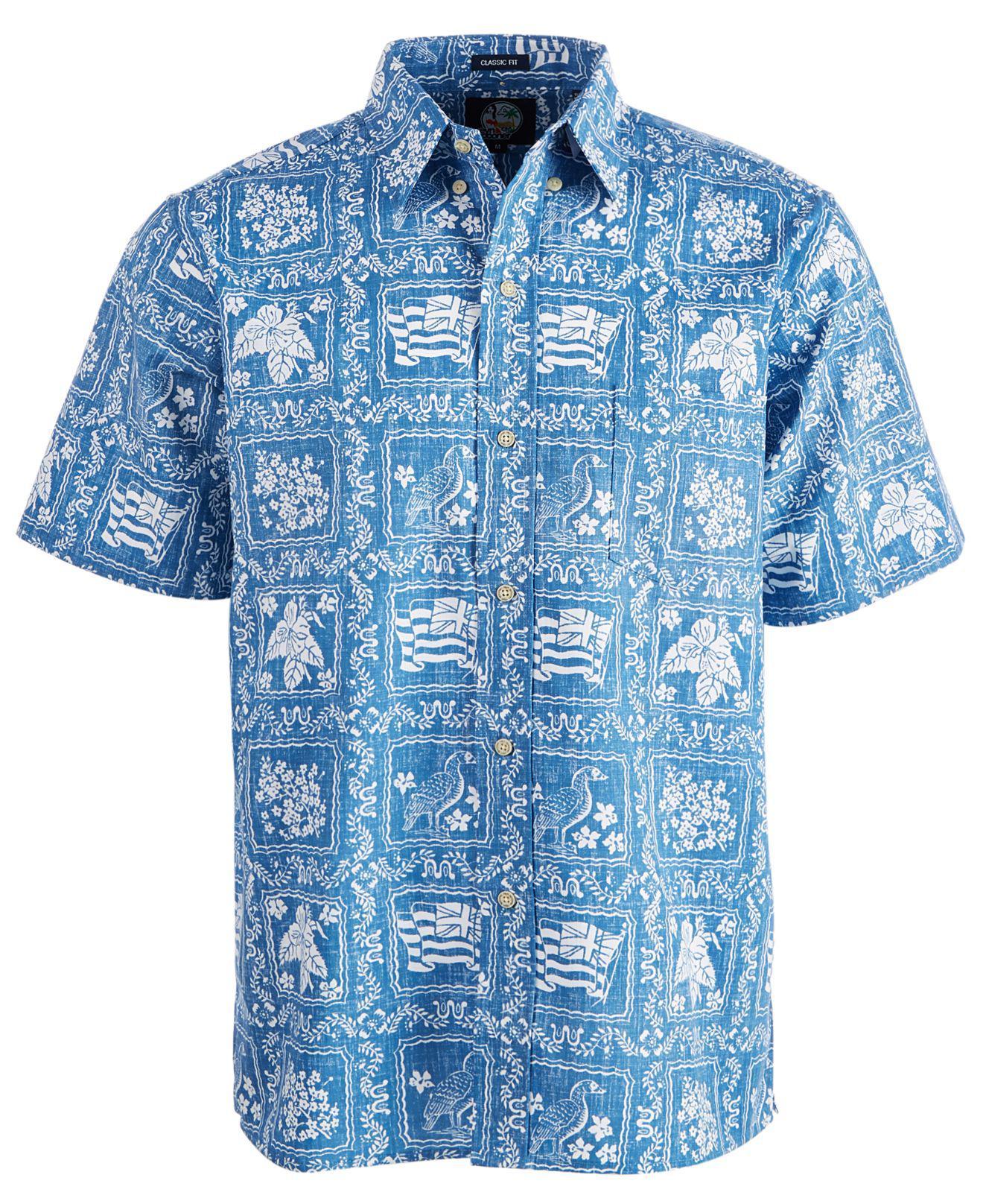 217e30938a07 Lyst - Reyn Spooner Printed Shirt in Blue for Men
