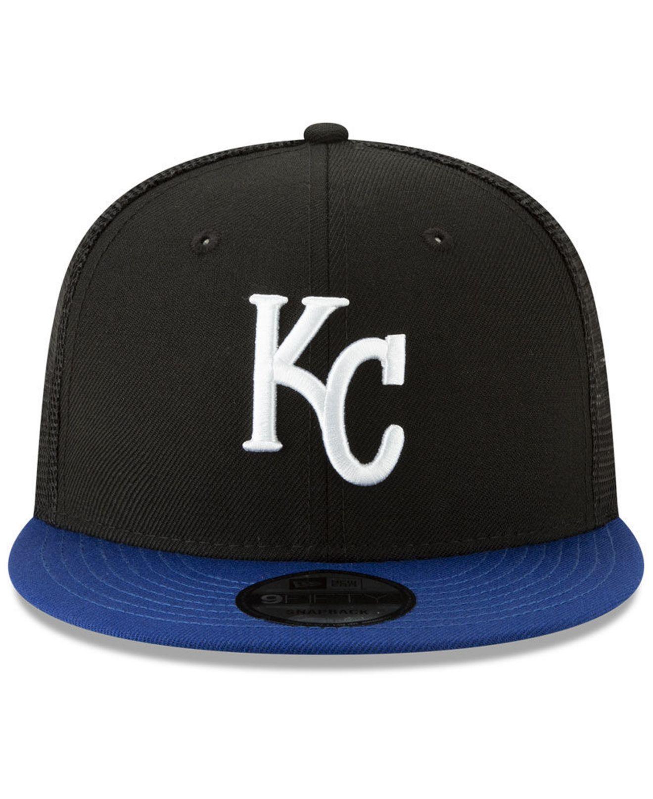 san francisco a87c4 68b3e Lyst - KTZ Kansas City Royals Coop All Day Mesh Back 9fifty Snapback Cap in  Black for Men
