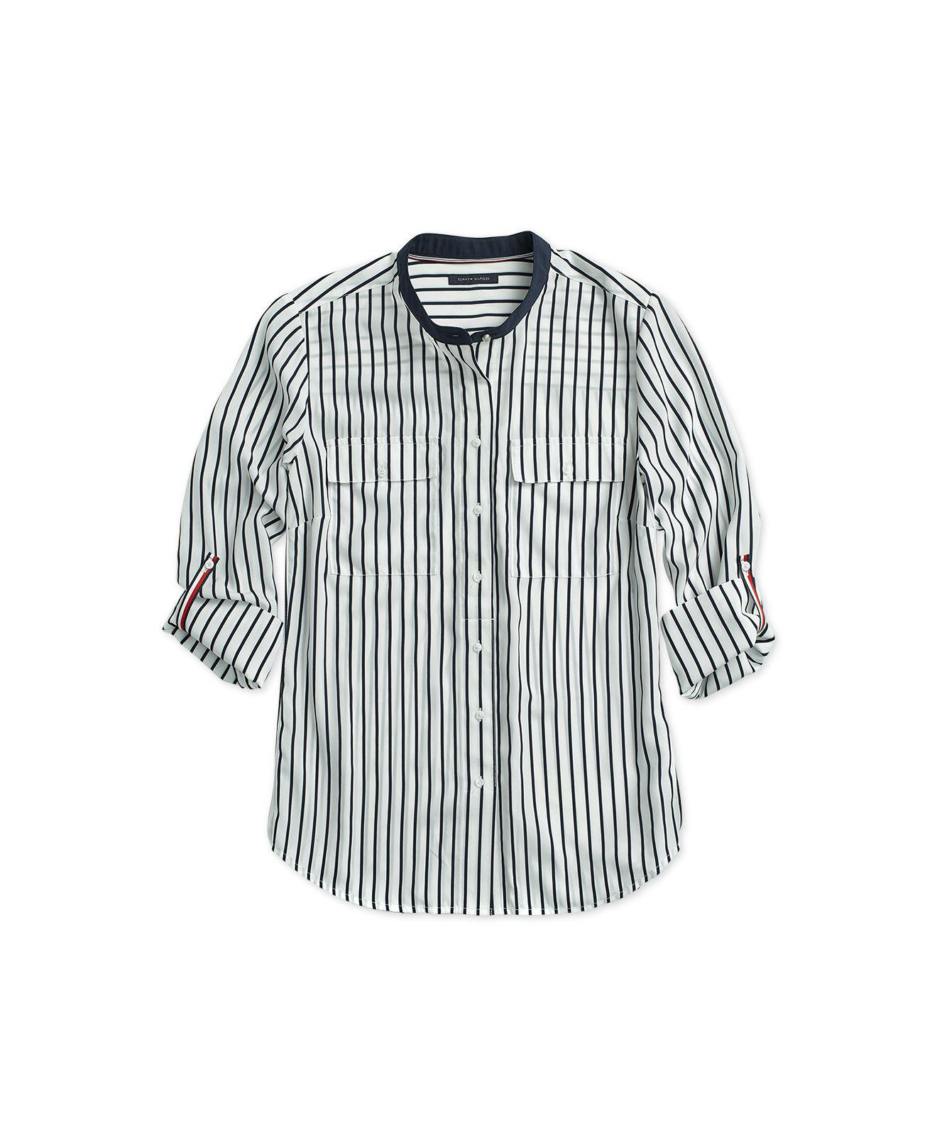 7676ba0372bc7e Lyst - Tommy Hilfiger Striped Fridae Top