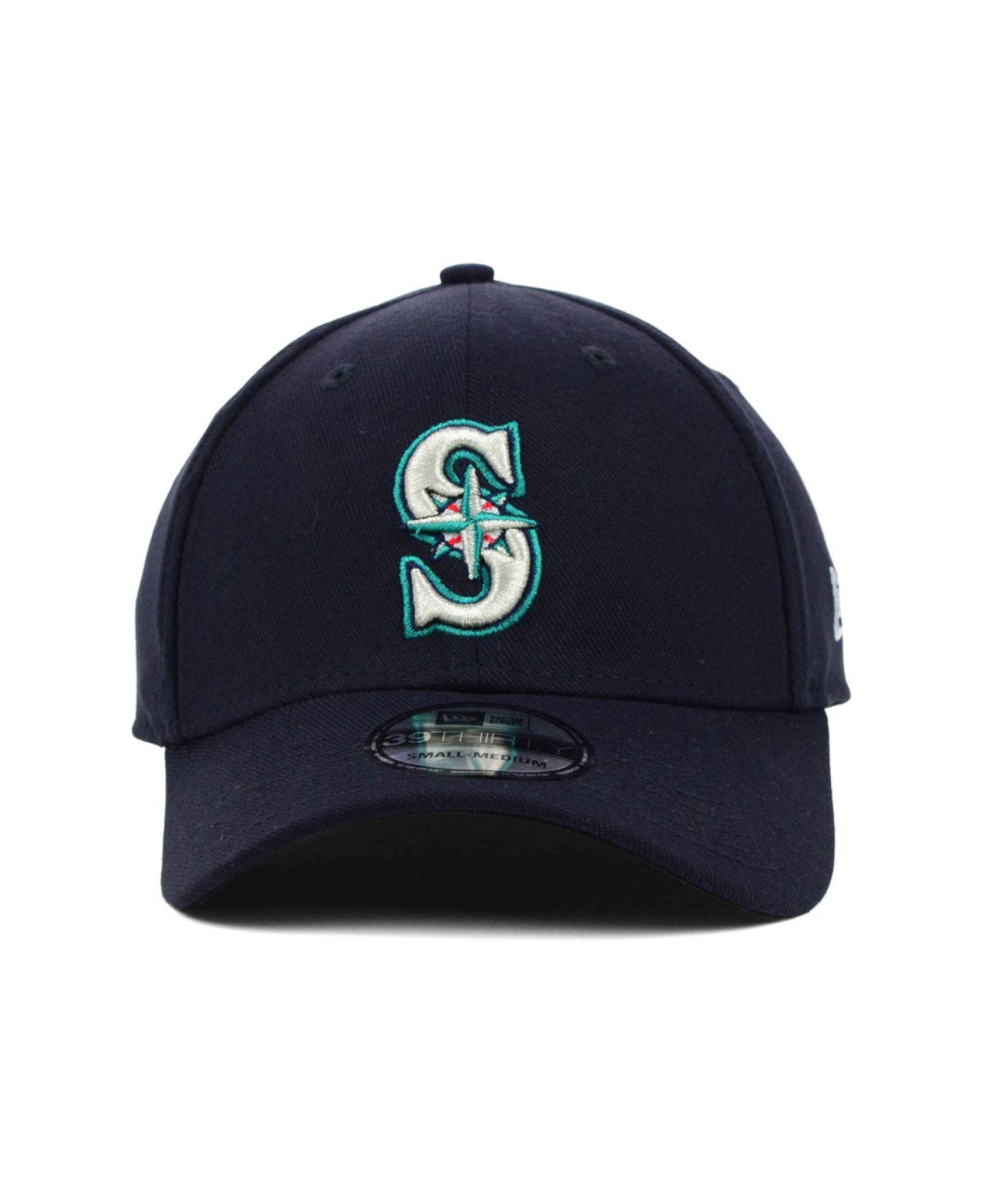 info for 892cb ad4b4 ... top quality lyst ktz seattle mariners mlb team classic 39thirty cap in  blue for men ee4bb