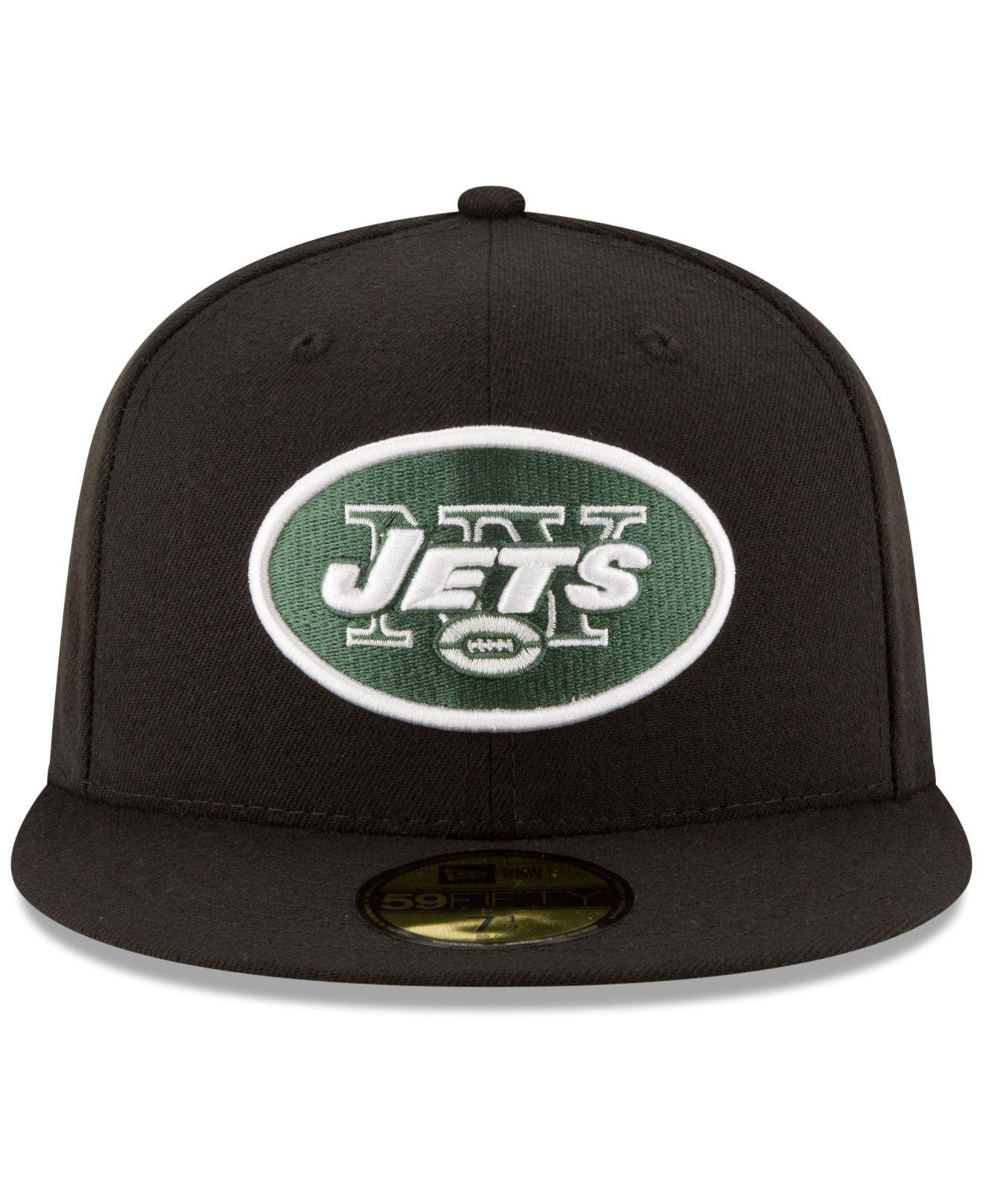 Lyst - Ktz New York Jets Team Basic 59fifty Cap in Black for Men 94f496a173ee