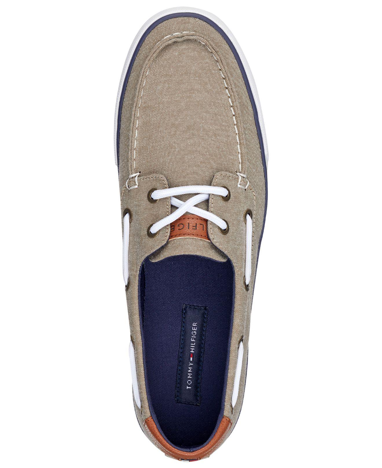 8a739ea20b5aa2 Tommy Hilfiger - Natural Petes Boat Shoes for Men - Lyst. View fullscreen