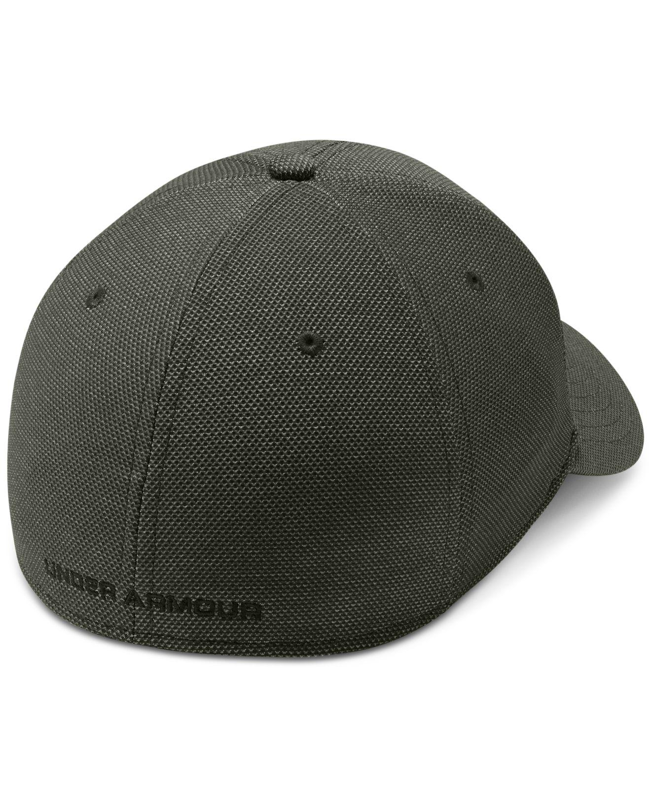 Lyst Under Armour Heathered Blitzing 3 0 Stretch Fitted Cap In