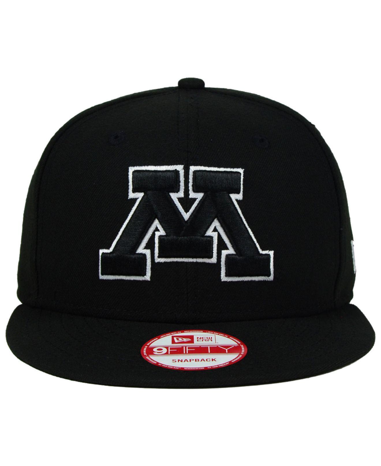 sale retailer 2b671 b97b5 ... purchase lyst ktz minnesota golden gophers black white 9fifty snapback  cap in black for men aaaca ...