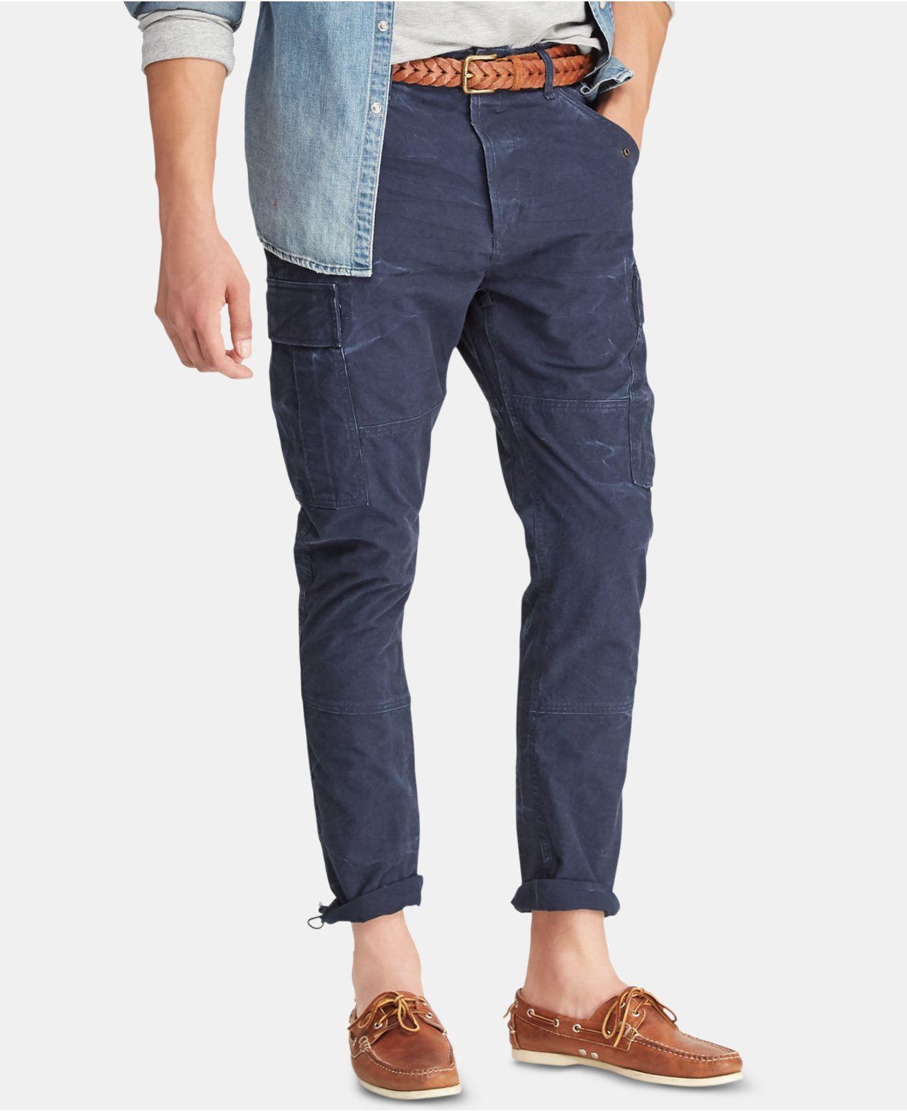 eb64edc93 Polo Ralph Lauren Slim Fit Canvas Cotton Cargo Pants in Blue for Men ...