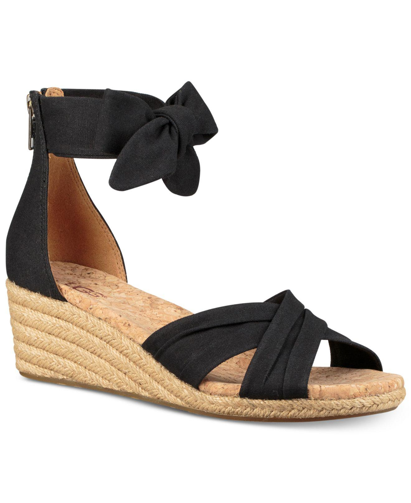 c467f7b49b1 Lyst - UGG Traci Espadrille Wedge Sandals in Black