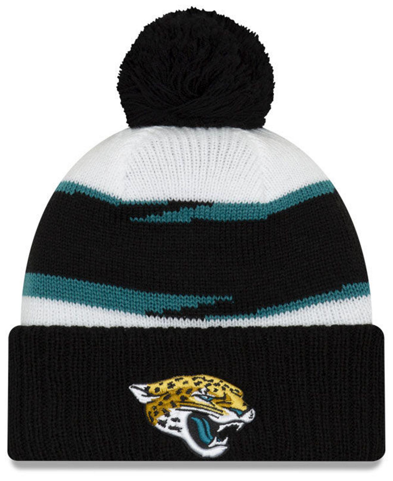ef6c128a6 Lyst - Ktz Jacksonville Jaguars Thanksgiving Pom Knit Hat in Black ...