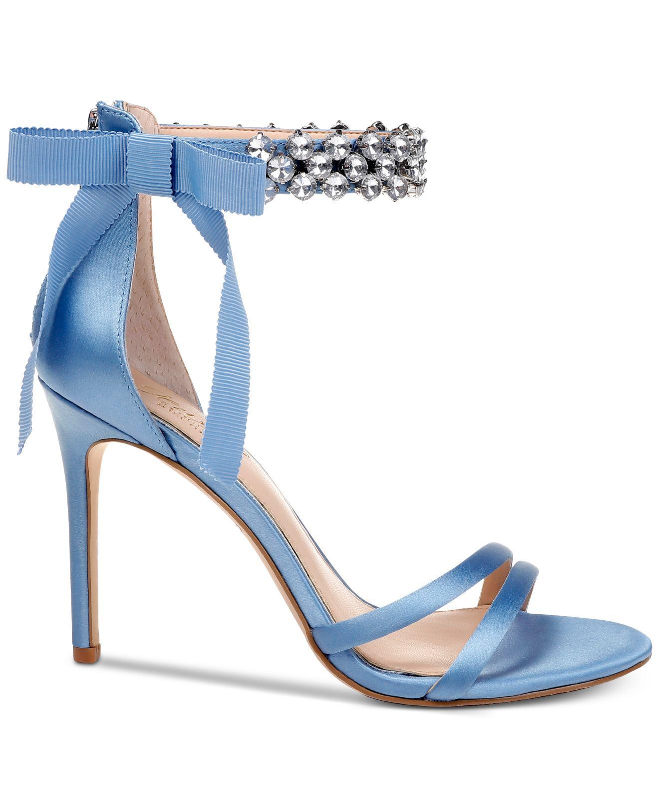 4a4e4d2d3 Badgley Mischka Debra Evening Sandals in Blue - Save 20% - Lyst