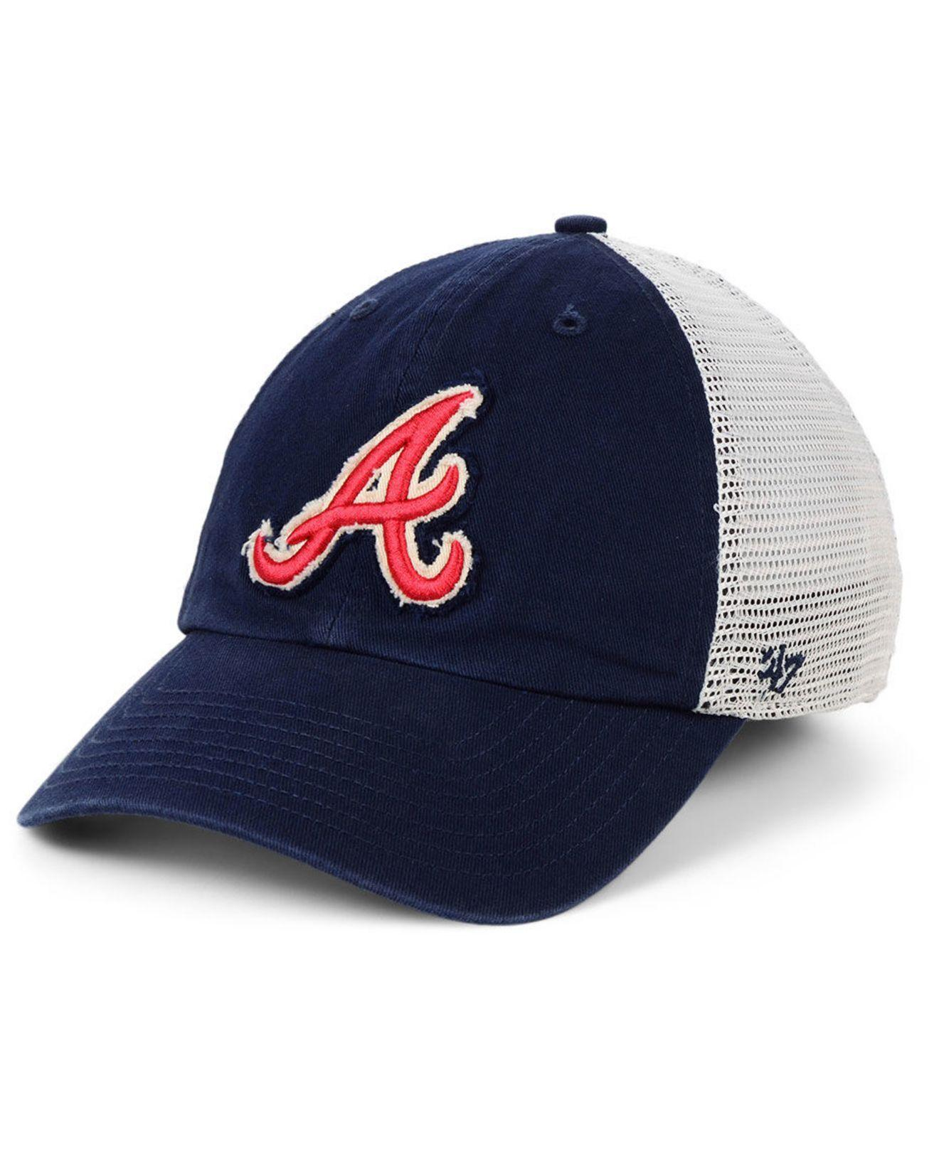 official photos 24afc 9f0a7 47 Brand. Men s Blue Atlanta Braves Stamper Mesh Closer Cap