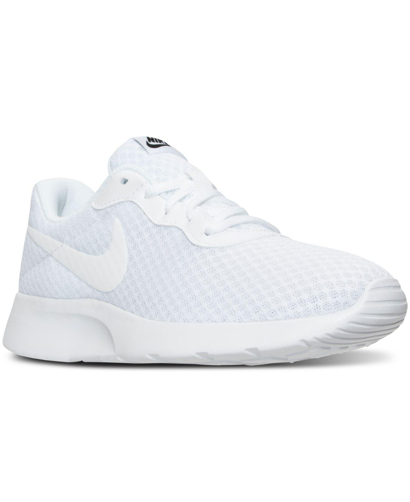 various colors 8b228 57832 Nike. White Women s Tanjun Casual Sneakers From Finish Line