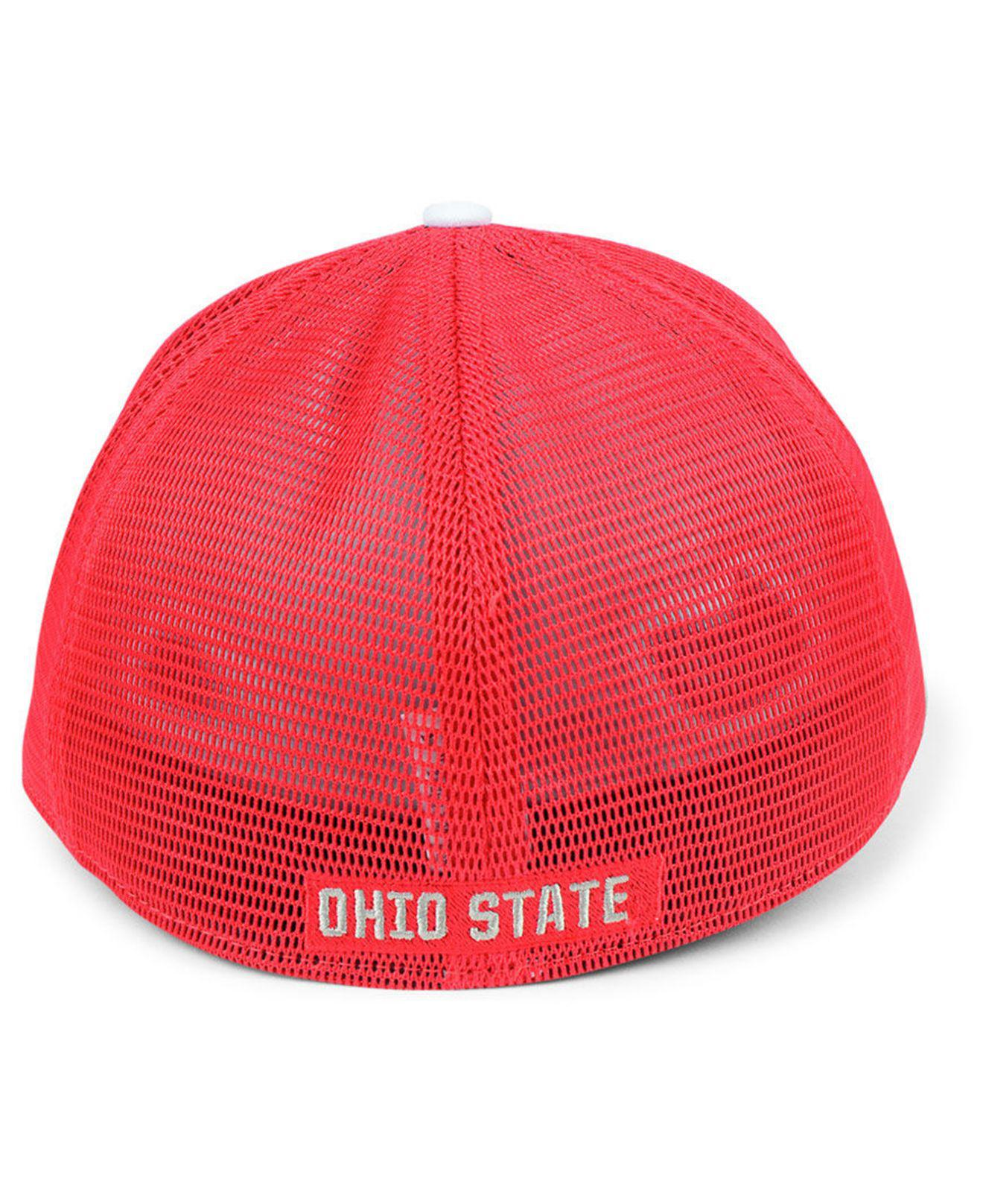 the latest 6bcb6 c39c1 cheap lyst nike ohio state buckeyes col aro swooshflex cap in red for men  1ec46 94a1b