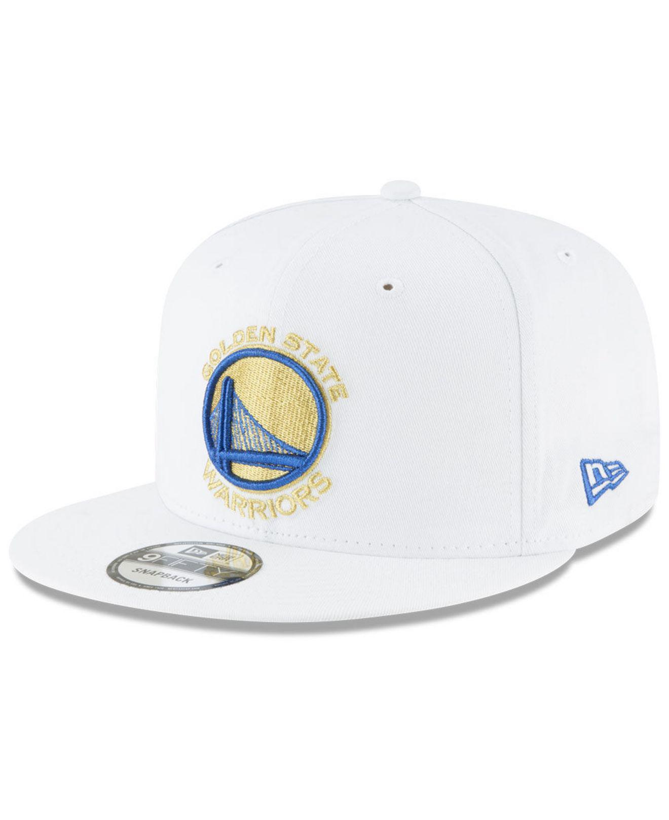 Lyst - Ktz Golden State Warriors Team Metallic 9fifty Snapback Cap ... 693dc3c19