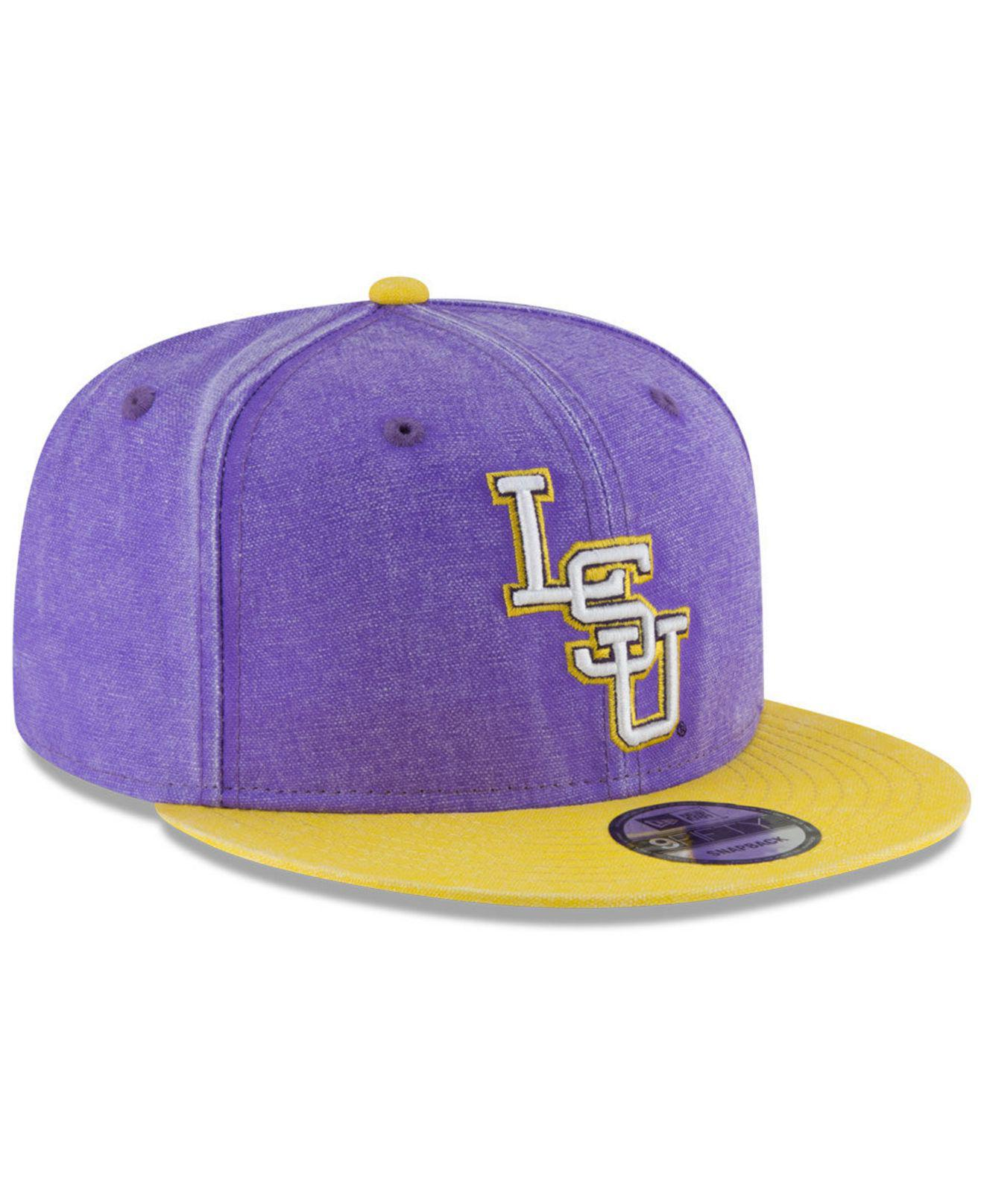 size 40 bd0f4 ace6e italy north carolina tar heels new era ncaa rugged canvas 9fifty snapback  cap fde96 6046f  ireland lyst ktz lsu tigers rugged canvas snapback cap in  purple ...